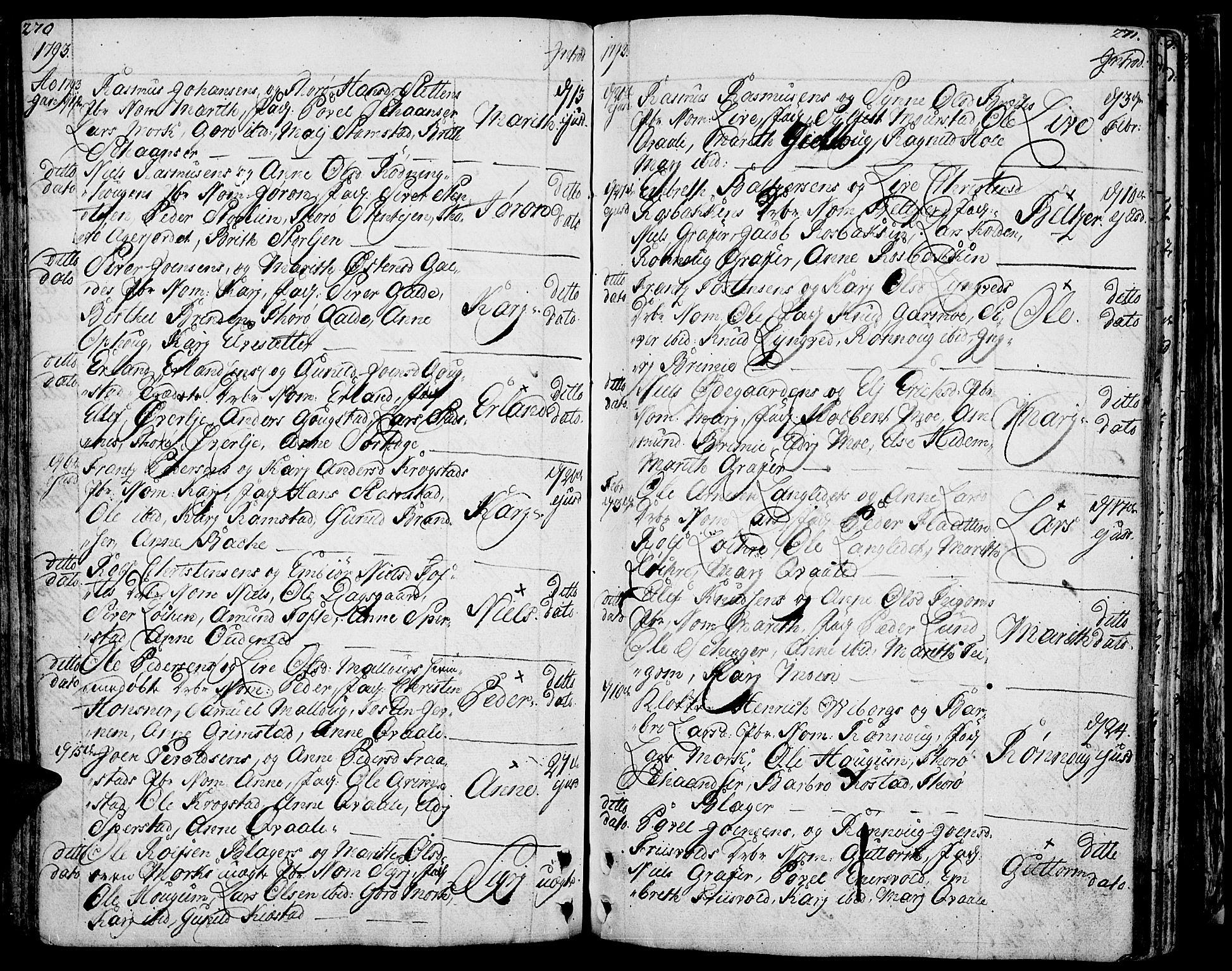 SAH, Lom prestekontor, K/L0002: Ministerialbok nr. 2, 1749-1801, s. 270-271