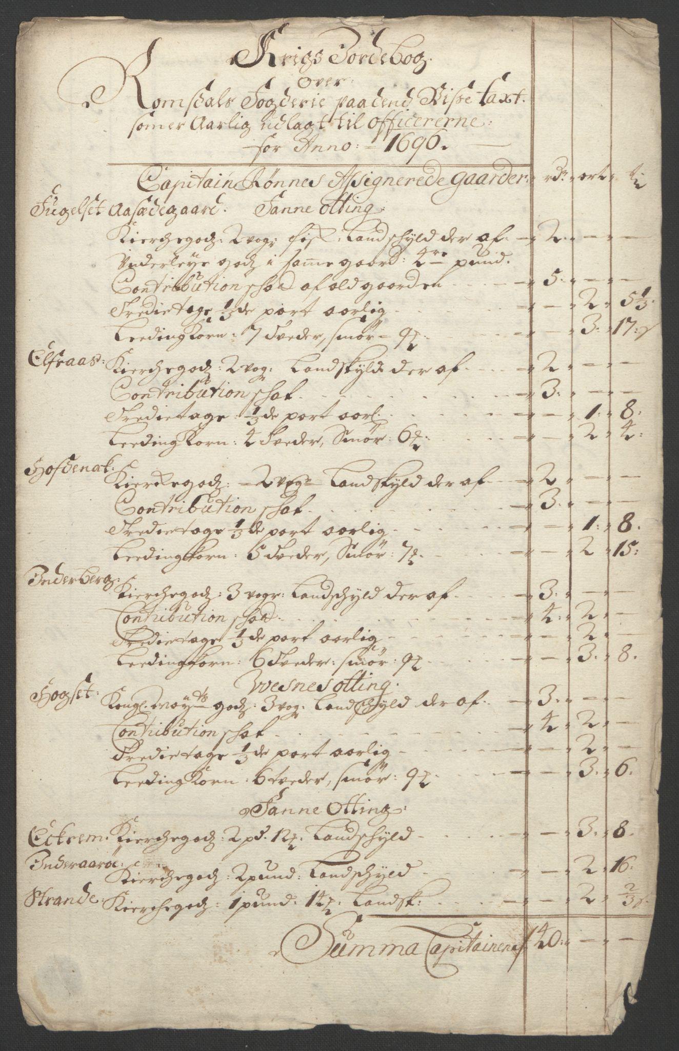 RA, Rentekammeret inntil 1814, Reviderte regnskaper, Fogderegnskap, R55/L3652: Fogderegnskap Romsdal, 1695-1696, s. 280