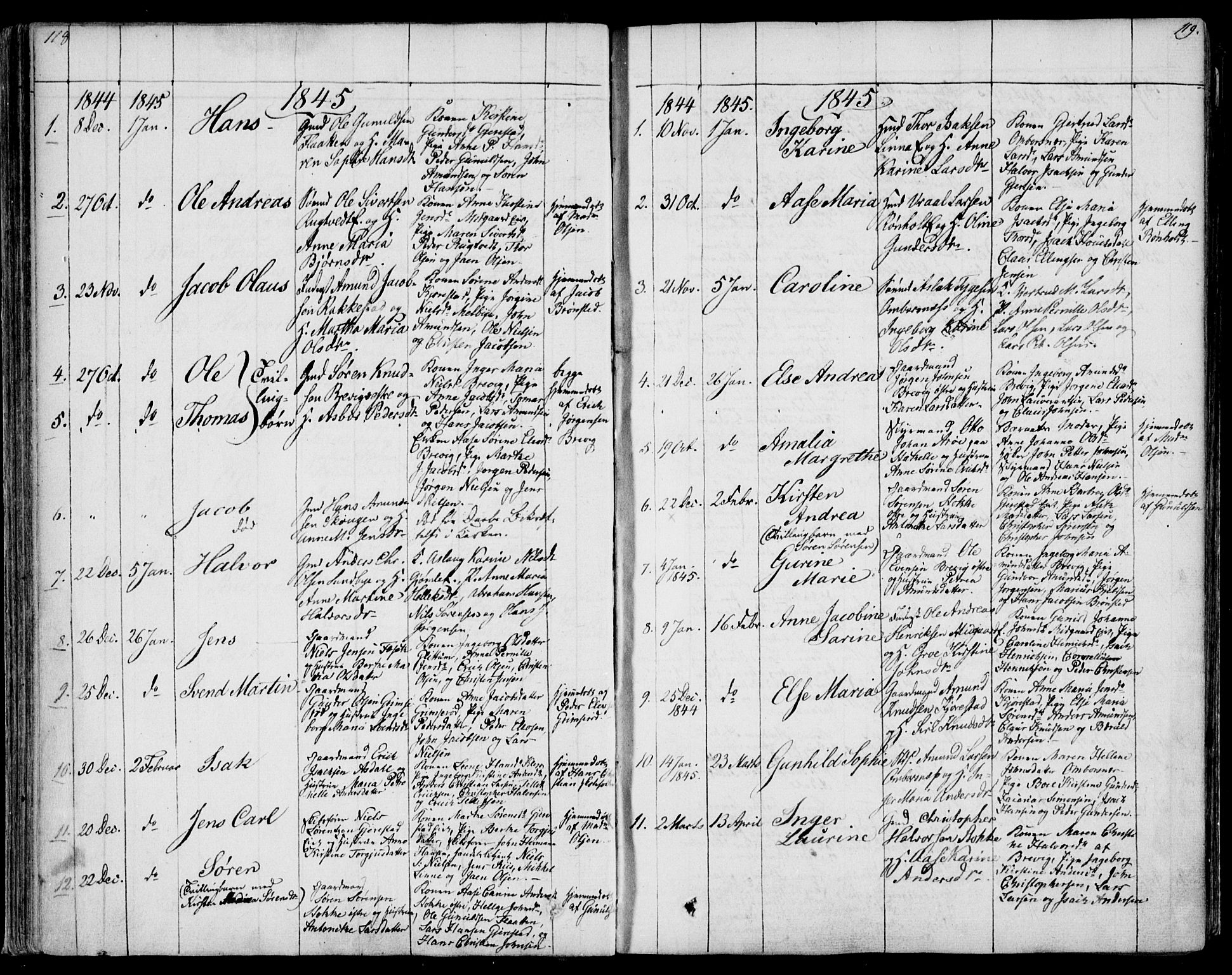SAKO, Bamble kirkebøker, F/Fa/L0004: Ministerialbok nr. I 4, 1834-1853, s. 118-119