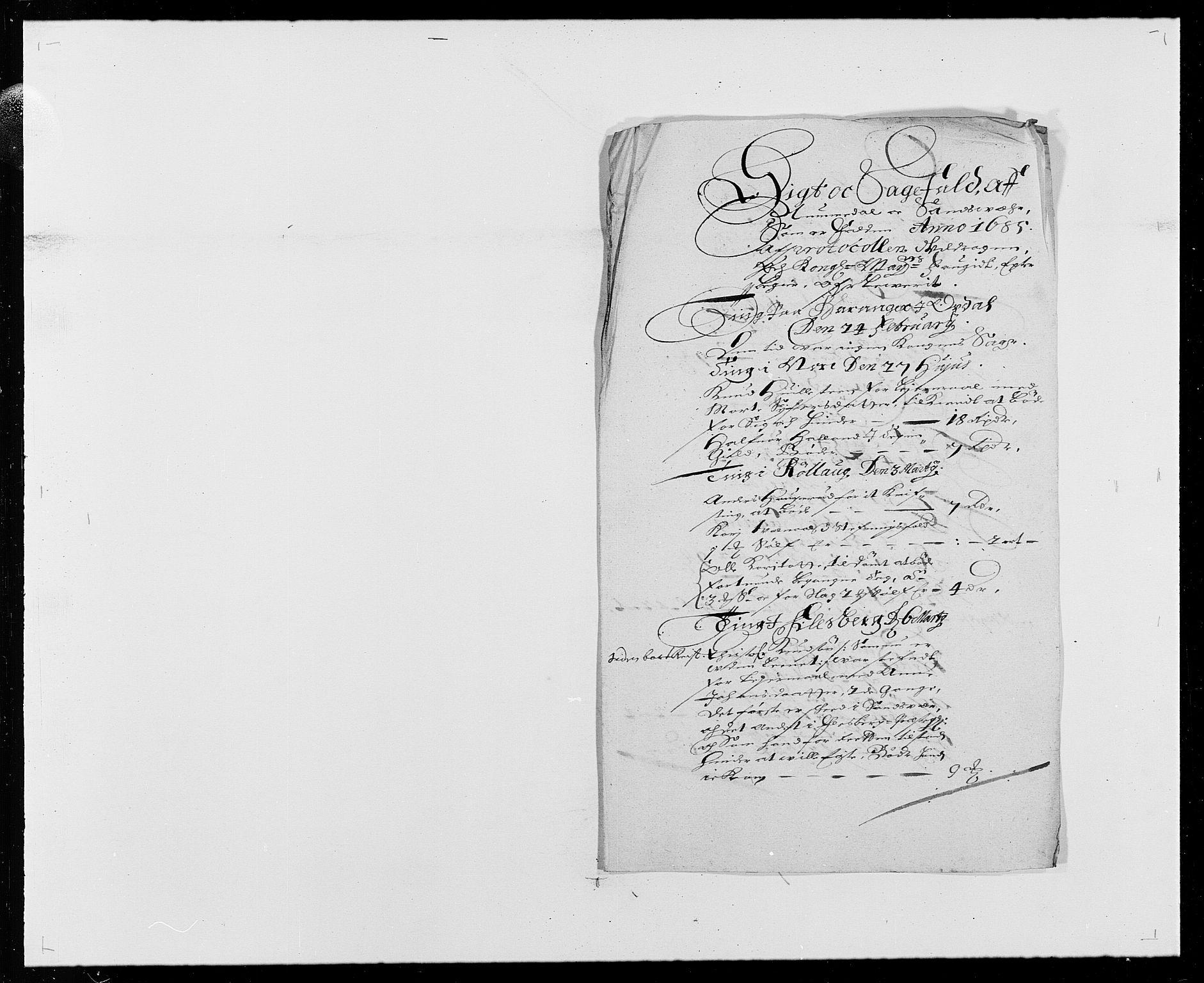 RA, Rentekammeret inntil 1814, Reviderte regnskaper, Fogderegnskap, R24/L1571: Fogderegnskap Numedal og Sandsvær, 1679-1686, s. 256