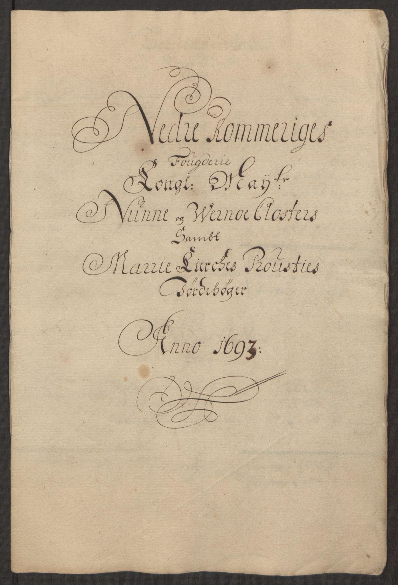 RA, Rentekammeret inntil 1814, Reviderte regnskaper, Fogderegnskap, R11/L0578: Fogderegnskap Nedre Romerike, 1693, s. 28