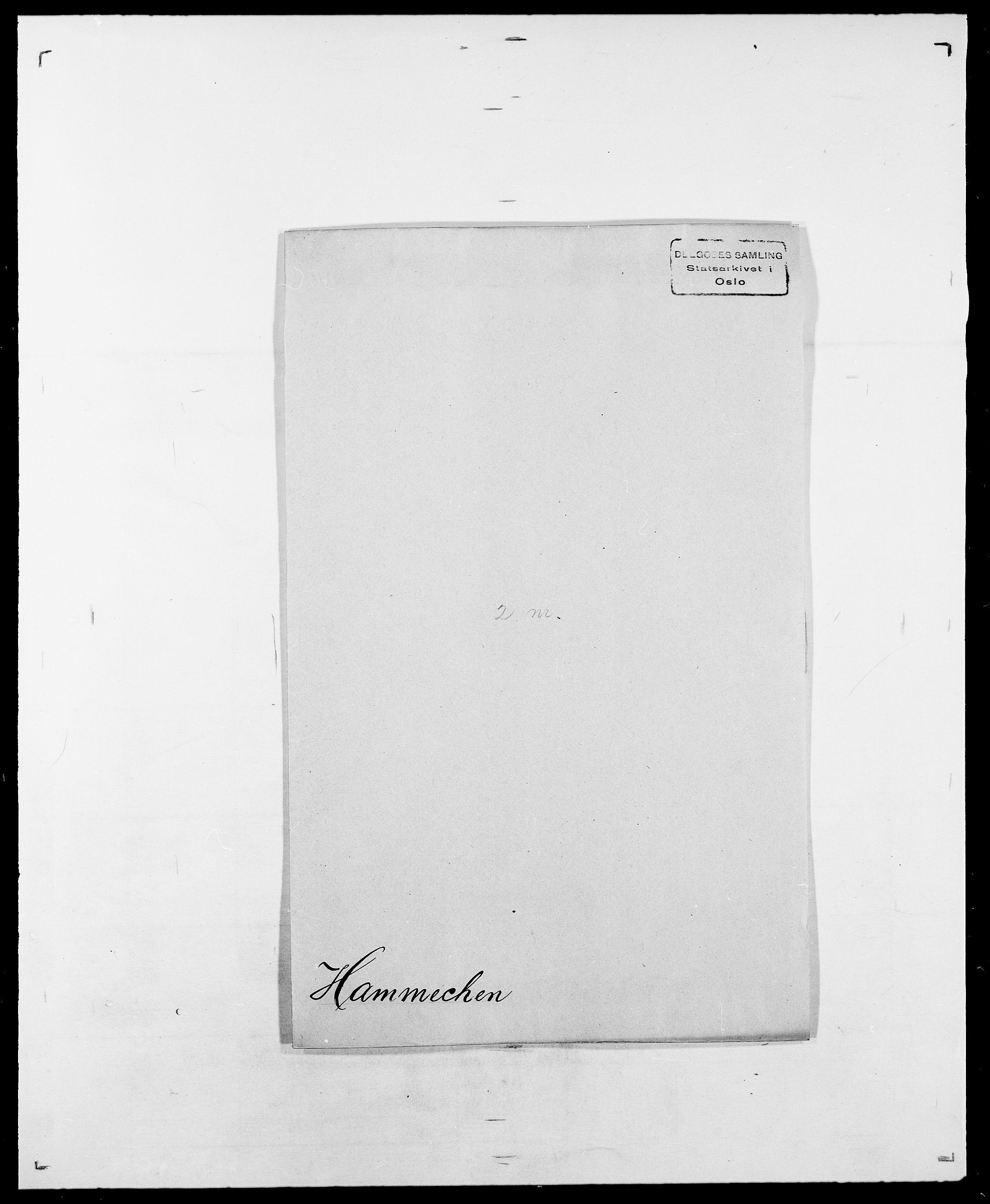 SAO, Delgobe, Charles Antoine - samling, D/Da/L0016: Hamborg - Hektoen, s. 22