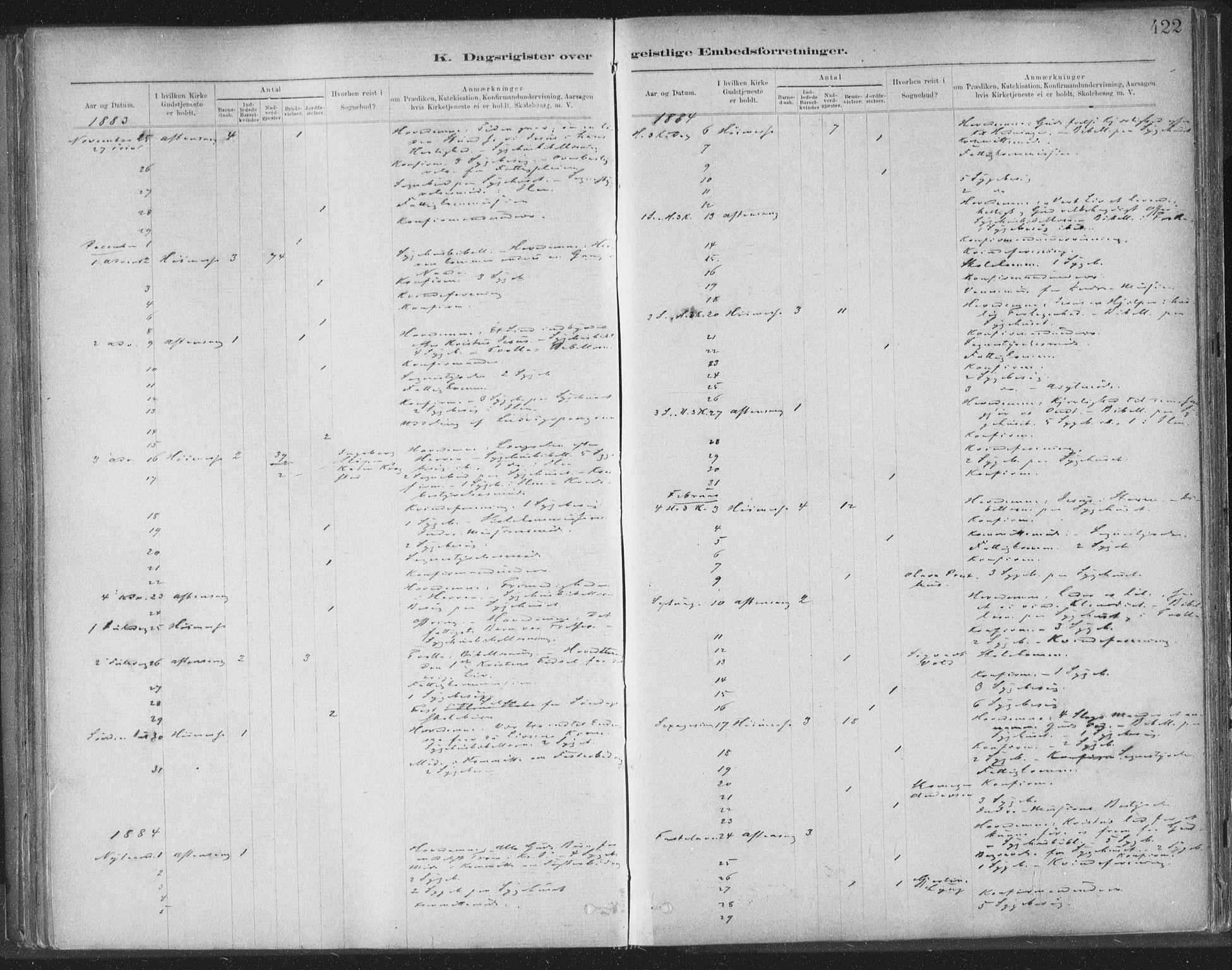 SAT, Ministerialprotokoller, klokkerbøker og fødselsregistre - Sør-Trøndelag, 603/L0163: Ministerialbok nr. 603A02, 1879-1895, s. 422