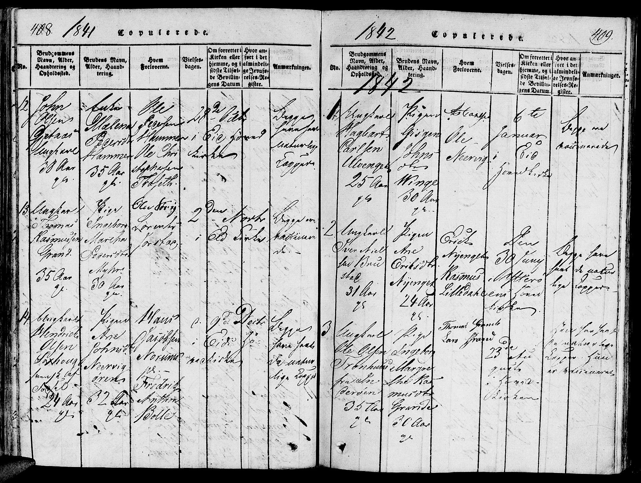 SAT, Ministerialprotokoller, klokkerbøker og fødselsregistre - Nord-Trøndelag, 733/L0322: Ministerialbok nr. 733A01, 1817-1842, s. 408-409