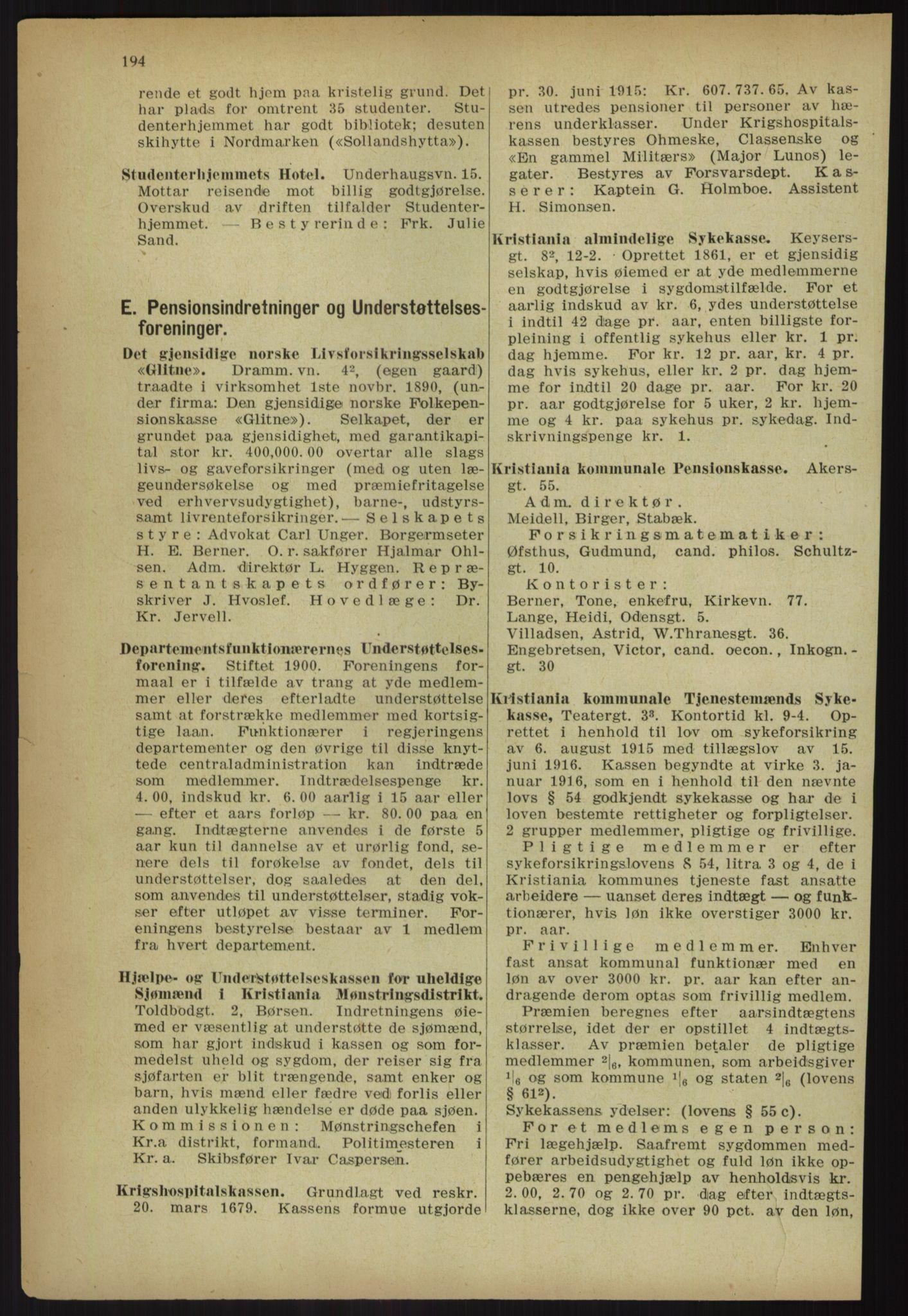PUBL, Kristiania/Oslo adressebok, 1918, s. 207