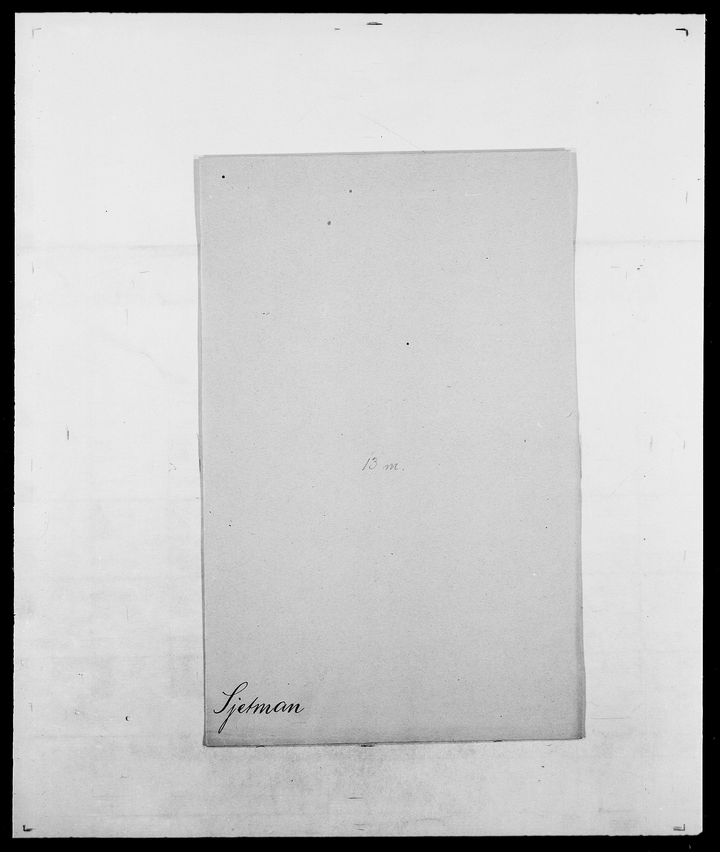 SAO, Delgobe, Charles Antoine - samling, D/Da/L0035: Schnabel - sjetman, s. 995