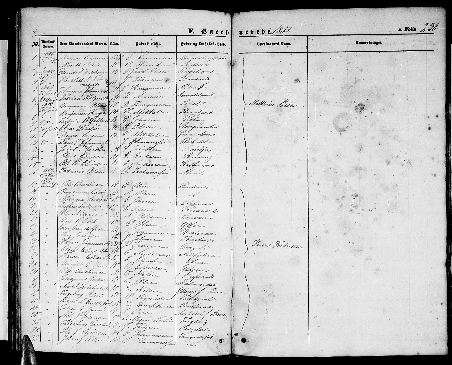 SAT, Ministerialprotokoller, klokkerbøker og fødselsregistre - Nordland, 827/L0414: Klokkerbok nr. 827C03, 1853-1865, s. 230