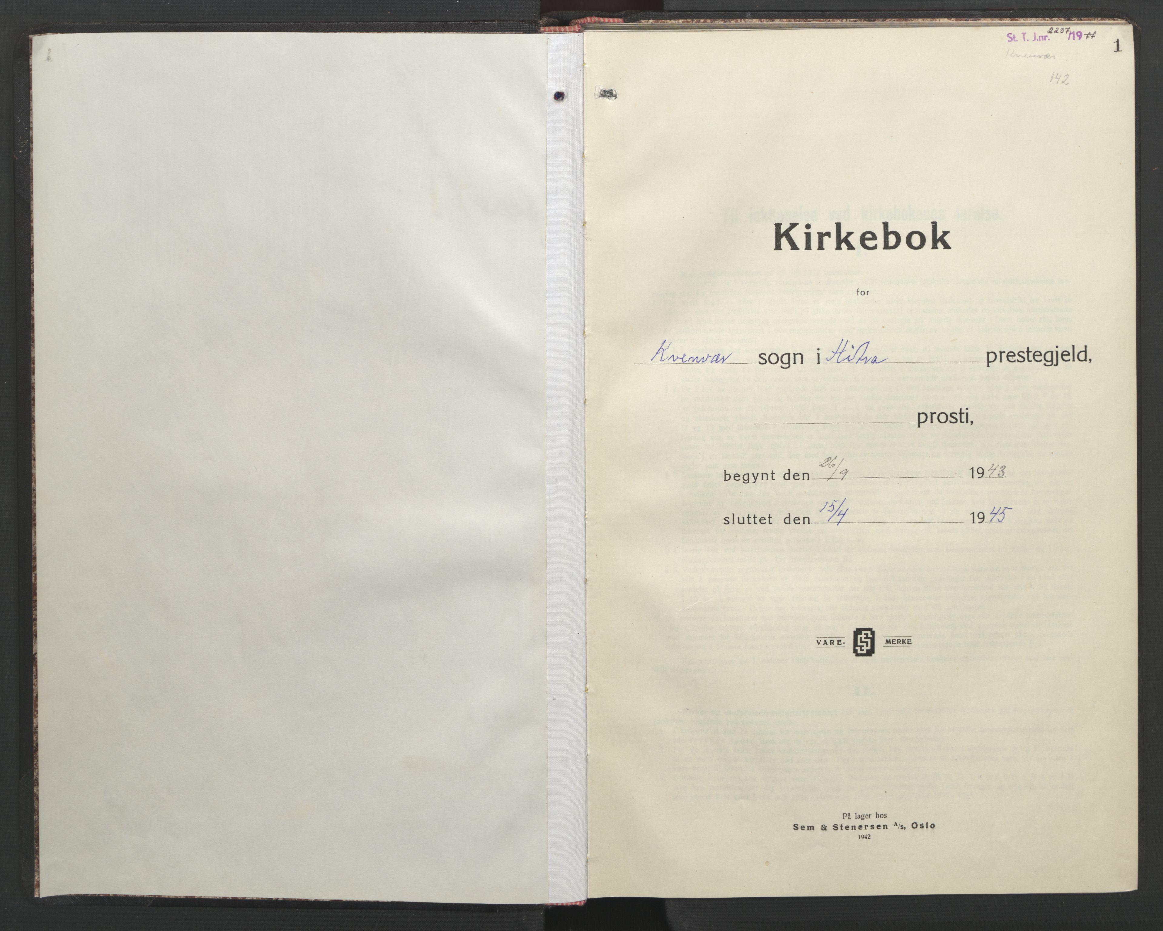SAT, Ministerialprotokoller, klokkerbøker og fødselsregistre - Sør-Trøndelag, 635/L0556: Klokkerbok nr. 635C04, 1943-1945