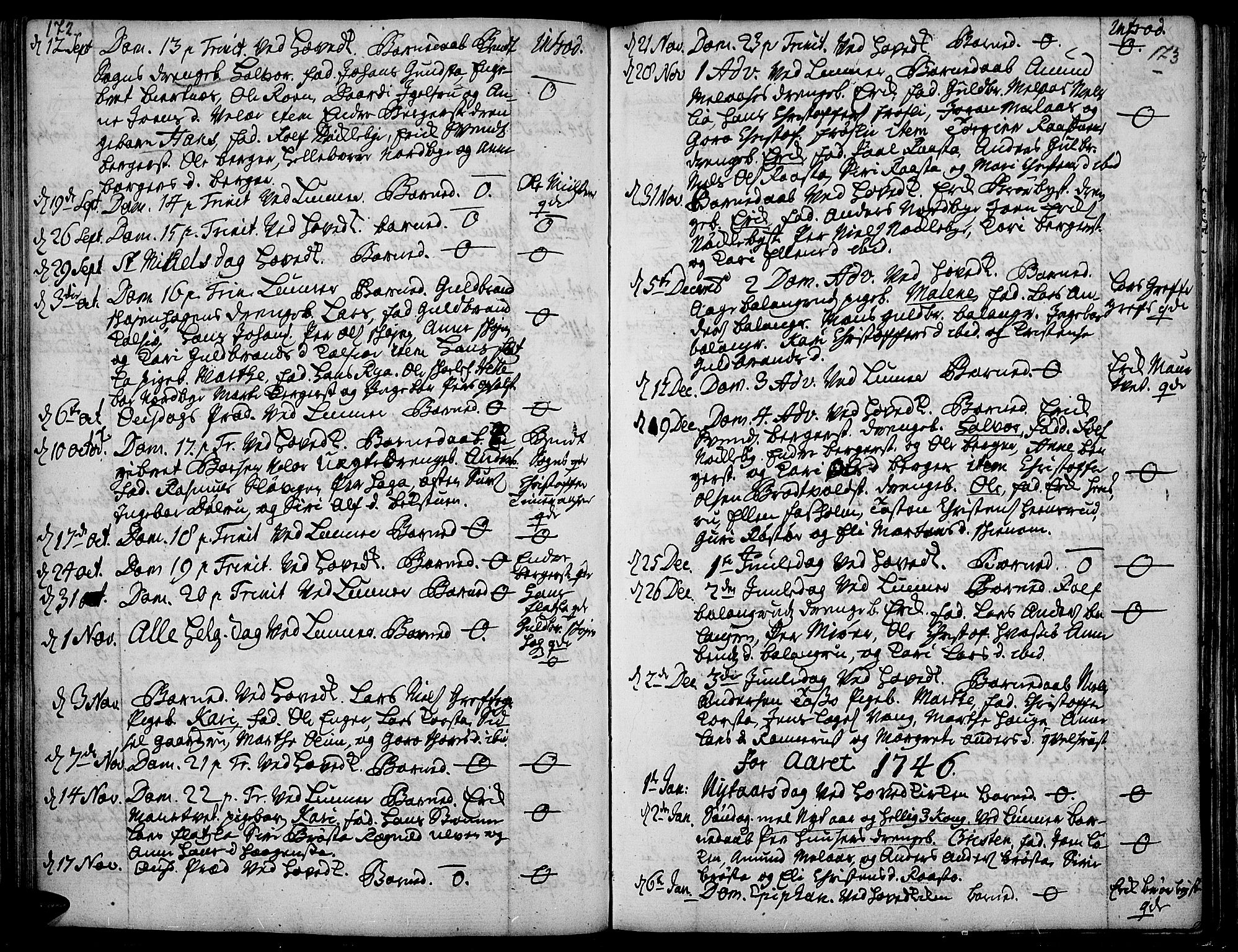 SAH, Jevnaker prestekontor, Ministerialbok nr. 2, 1725-1751, s. 172-173