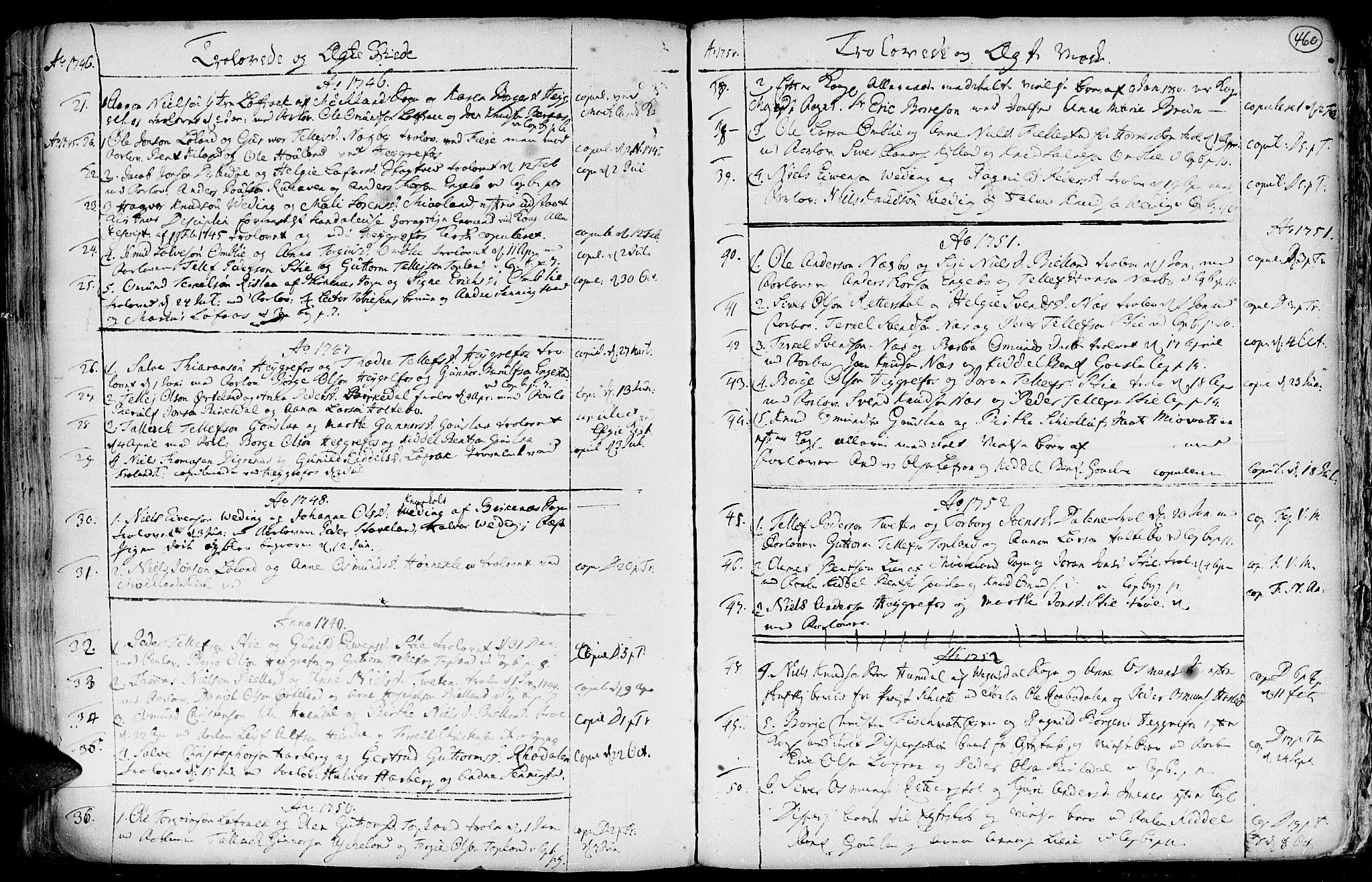 SAK, Hommedal sokneprestkontor, F/Fa/Fab/L0002: Ministerialbok nr. A 2 /3, 1740-1821, s. 460