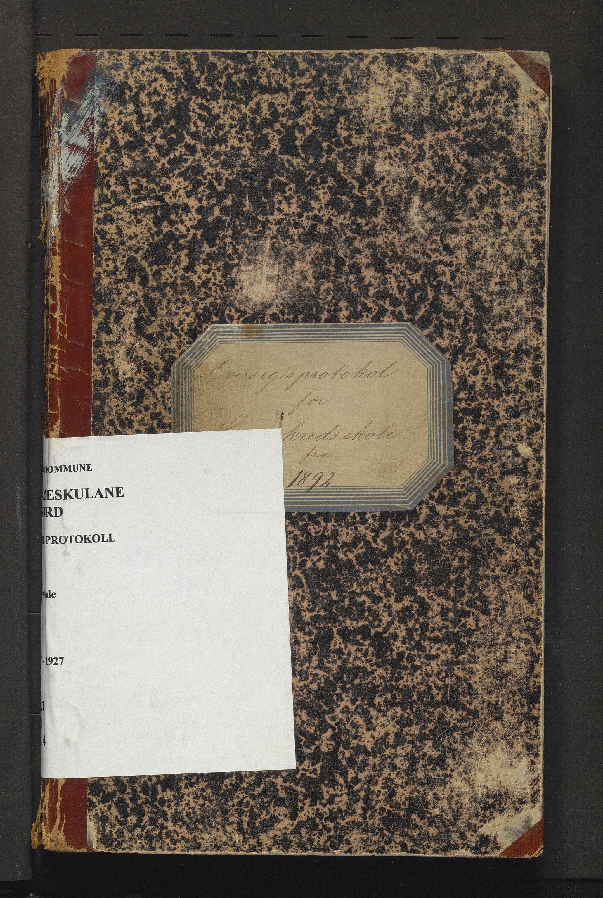 IKAH, Stord kommune. Barneskulane, F/Fa/L0004: Skuleprotokoll for Stue skule, 1892-1927