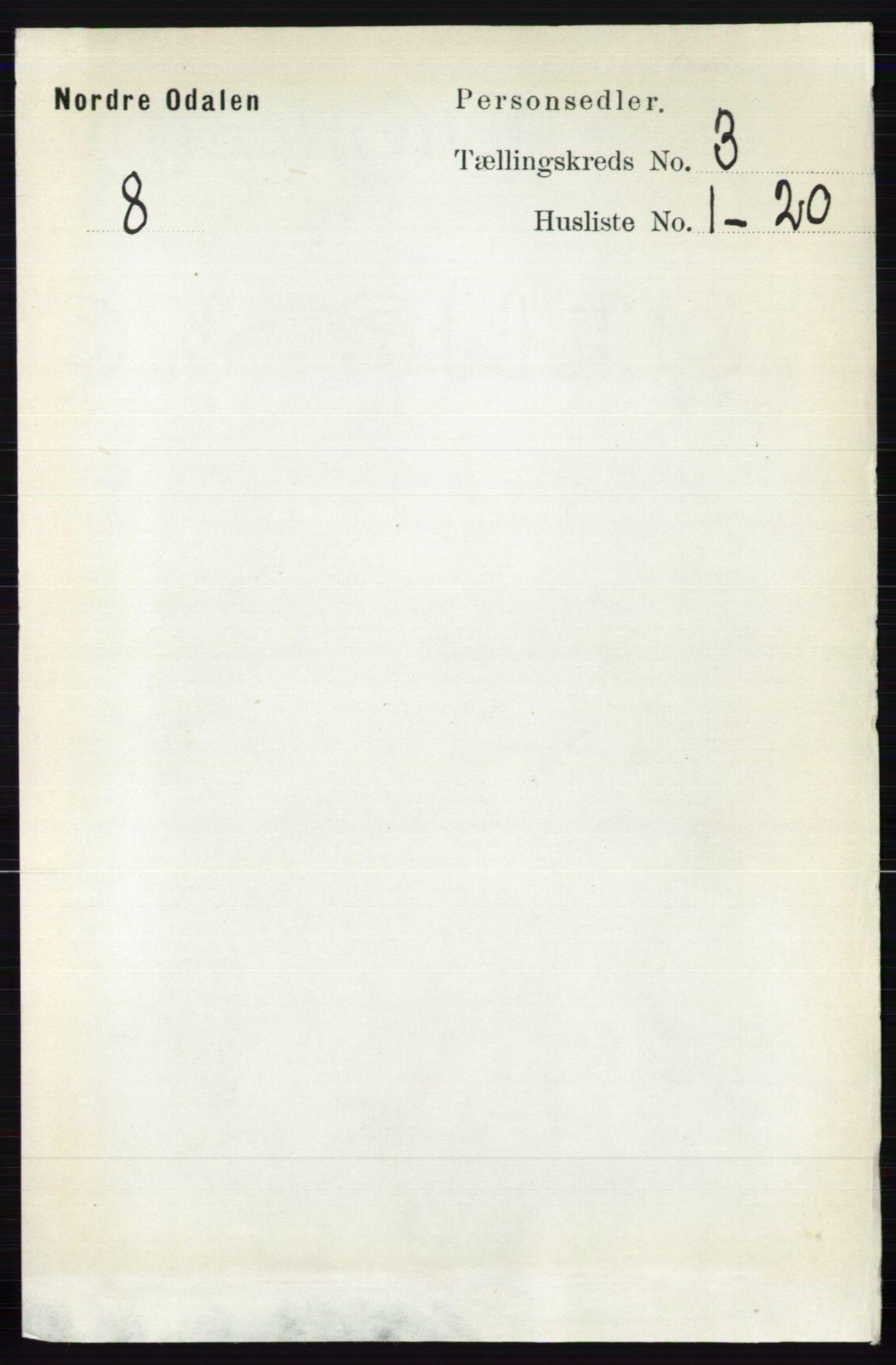 RA, Folketelling 1891 for 0418 Nord-Odal herred, 1891, s. 818