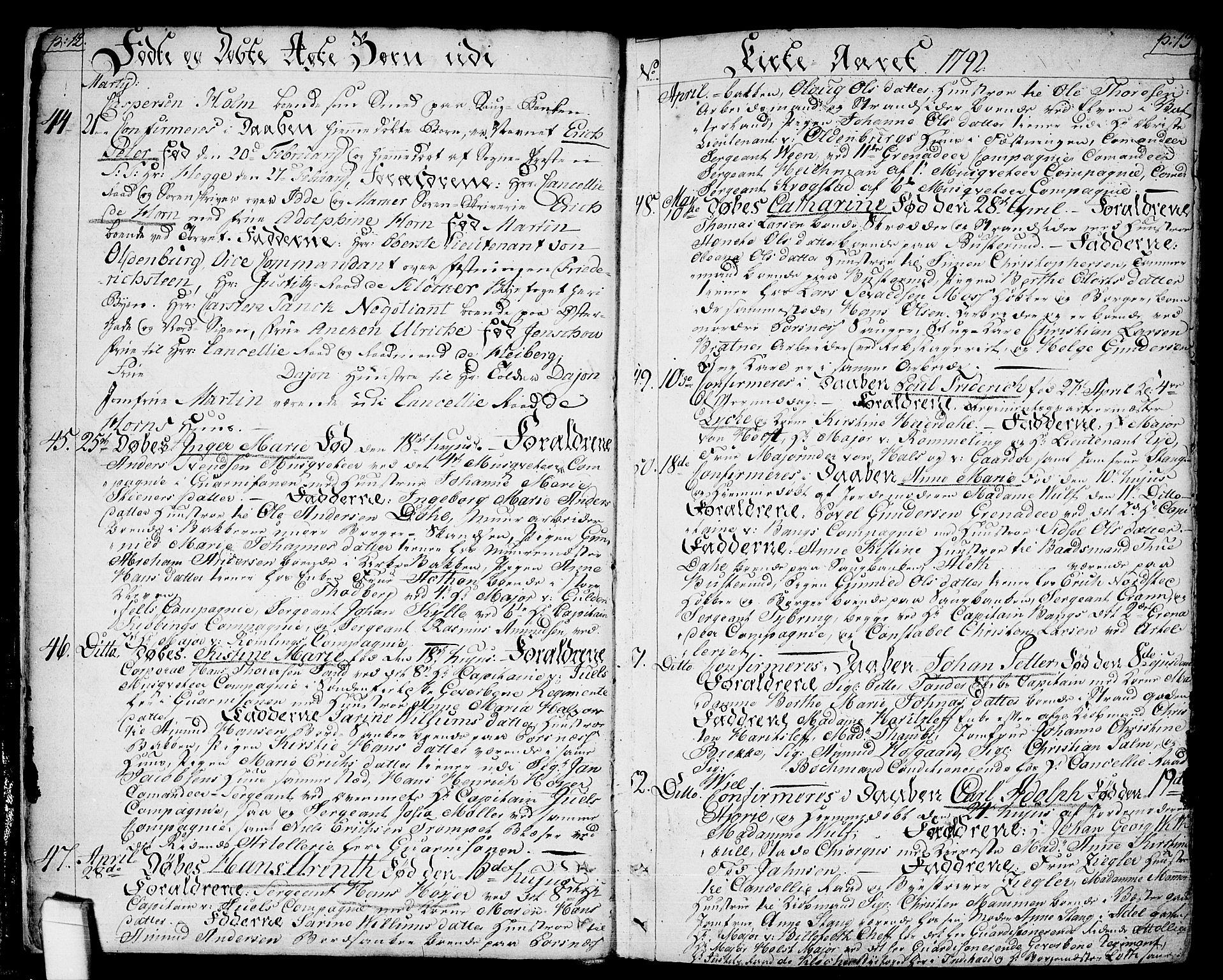 SAO, Halden prestekontor Kirkebøker, F/Fa/L0002: Ministerialbok nr. I 2, 1792-1812, s. 12-13