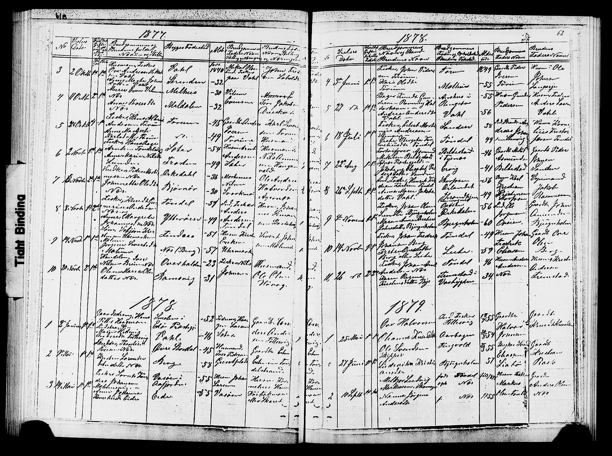 SAT, Ministerialprotokoller, klokkerbøker og fødselsregistre - Sør-Trøndelag, 652/L0653: Klokkerbok nr. 652C01, 1866-1910, s. 62