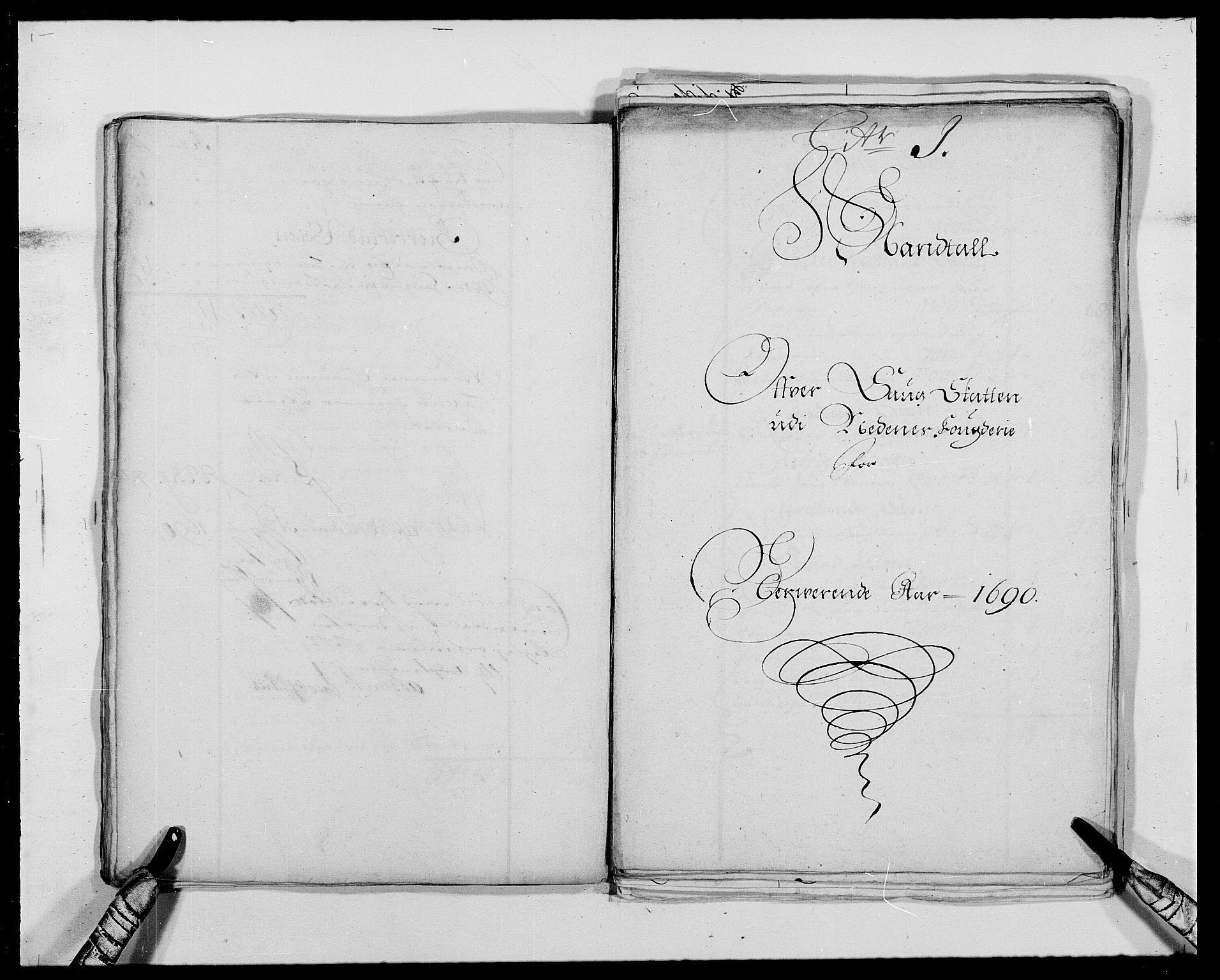 RA, Rentekammeret inntil 1814, Reviderte regnskaper, Fogderegnskap, R39/L2310: Fogderegnskap Nedenes, 1690-1692, s. 232