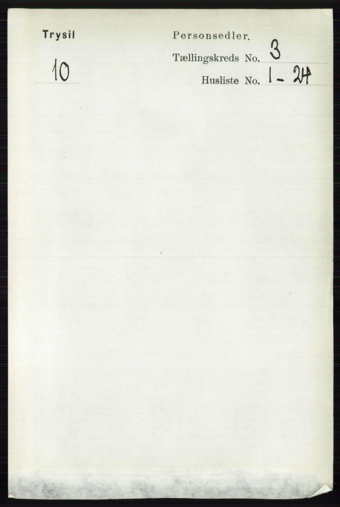RA, Folketelling 1891 for 0428 Trysil herred, 1891, s. 1322