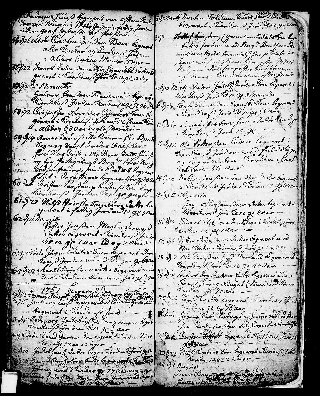 SAKO, Skien kirkebøker, F/Fa/L0002: Ministerialbok nr. 2, 1716-1757, s. 230