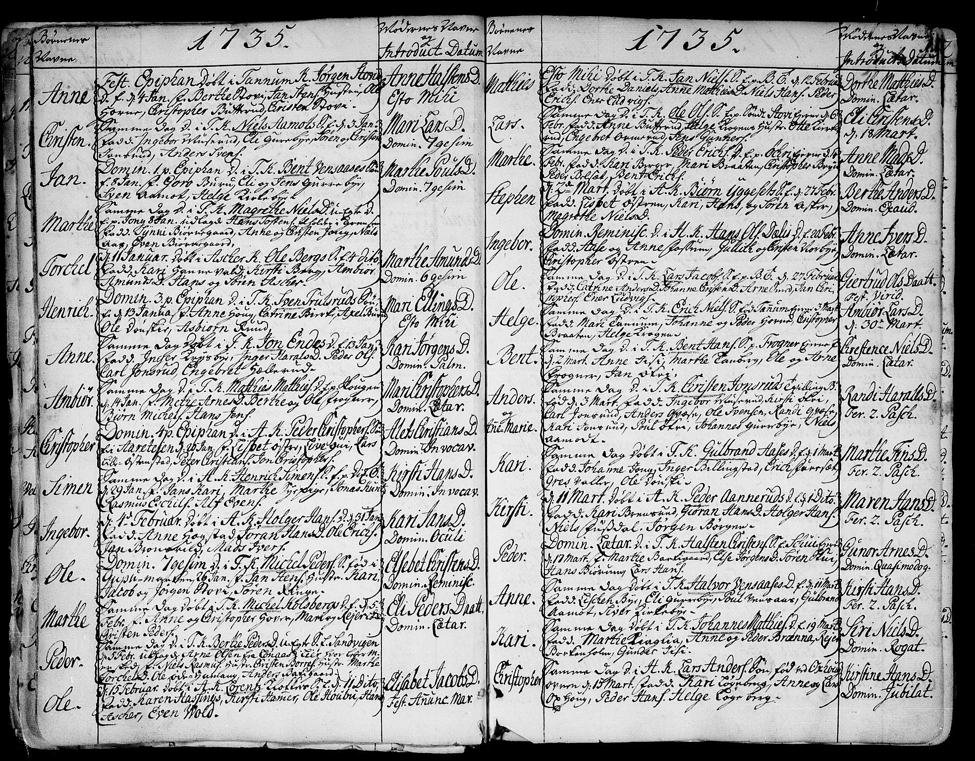SAO, Asker prestekontor Kirkebøker, F/Fa/L0002: Ministerialbok nr. I 2, 1733-1766, s. 11