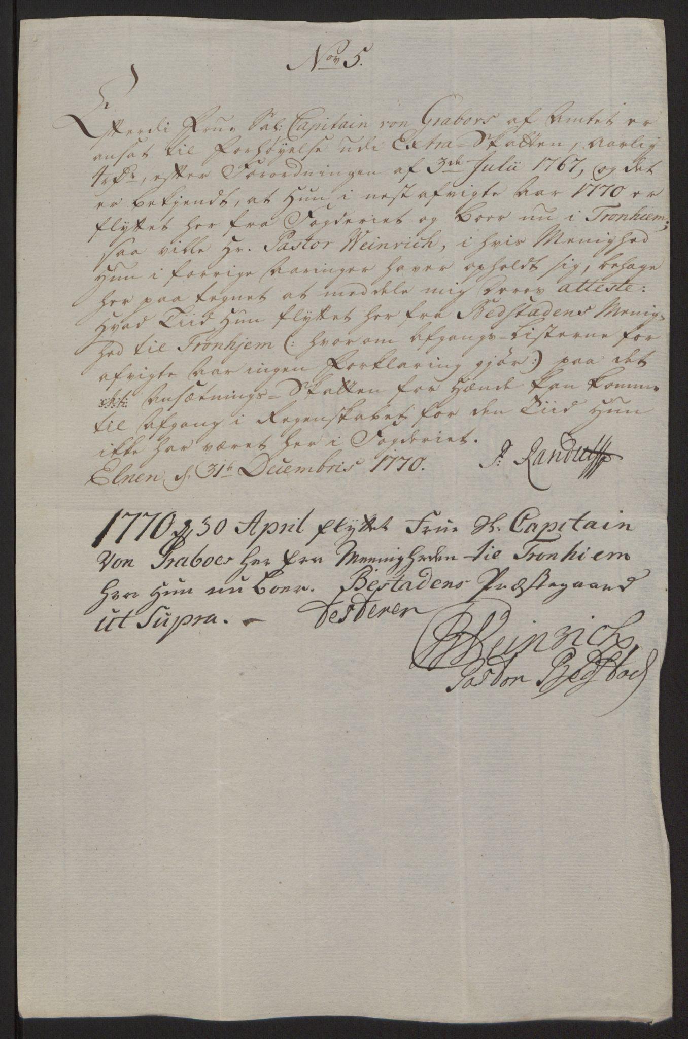 RA, Rentekammeret inntil 1814, Reviderte regnskaper, Fogderegnskap, R63/L4420: Ekstraskatten Inderøy, 1762-1772, s. 398