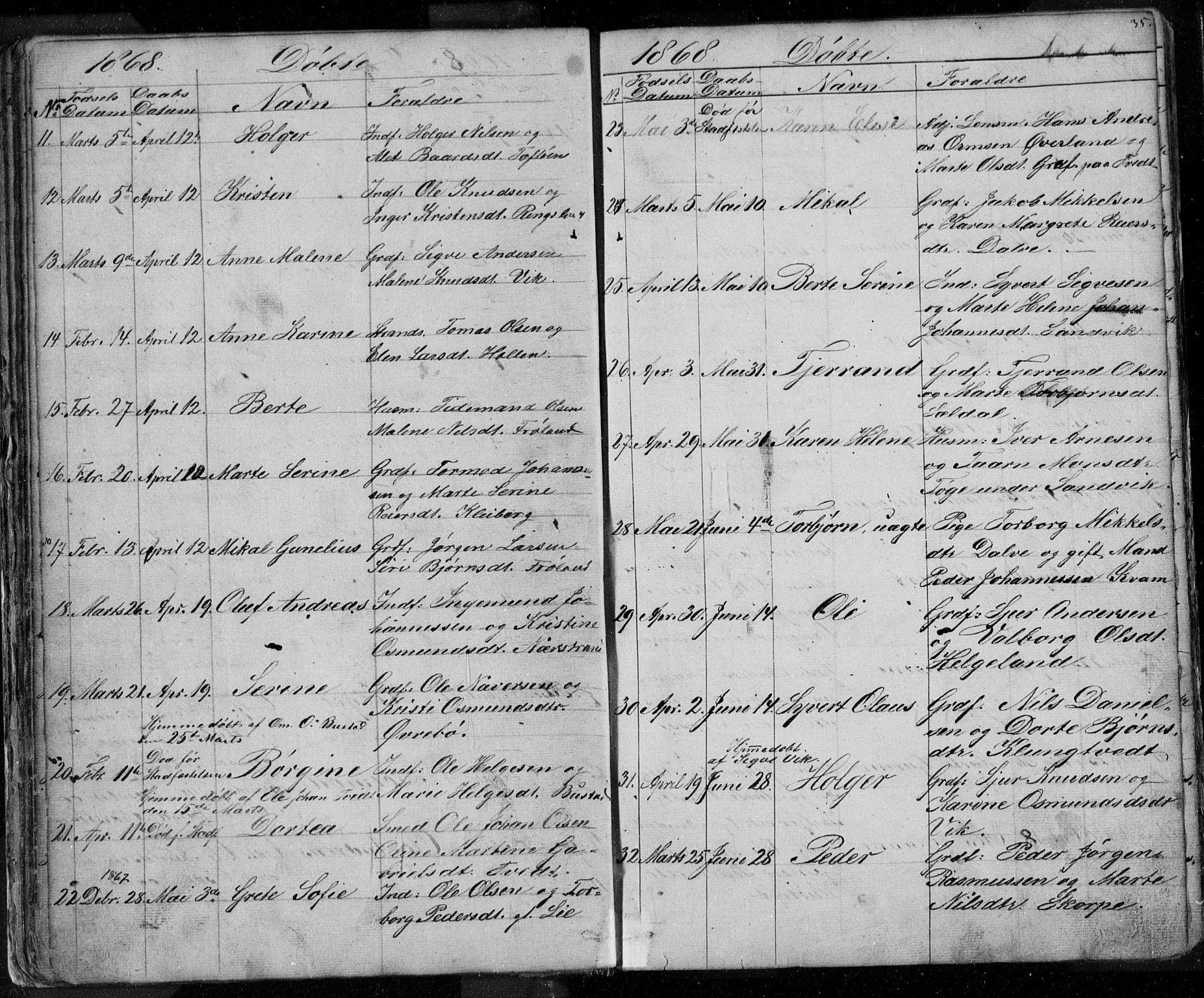 SAST, Nedstrand sokneprestkontor, V: Klokkerbok nr. B 3, 1848-1933, s. 35