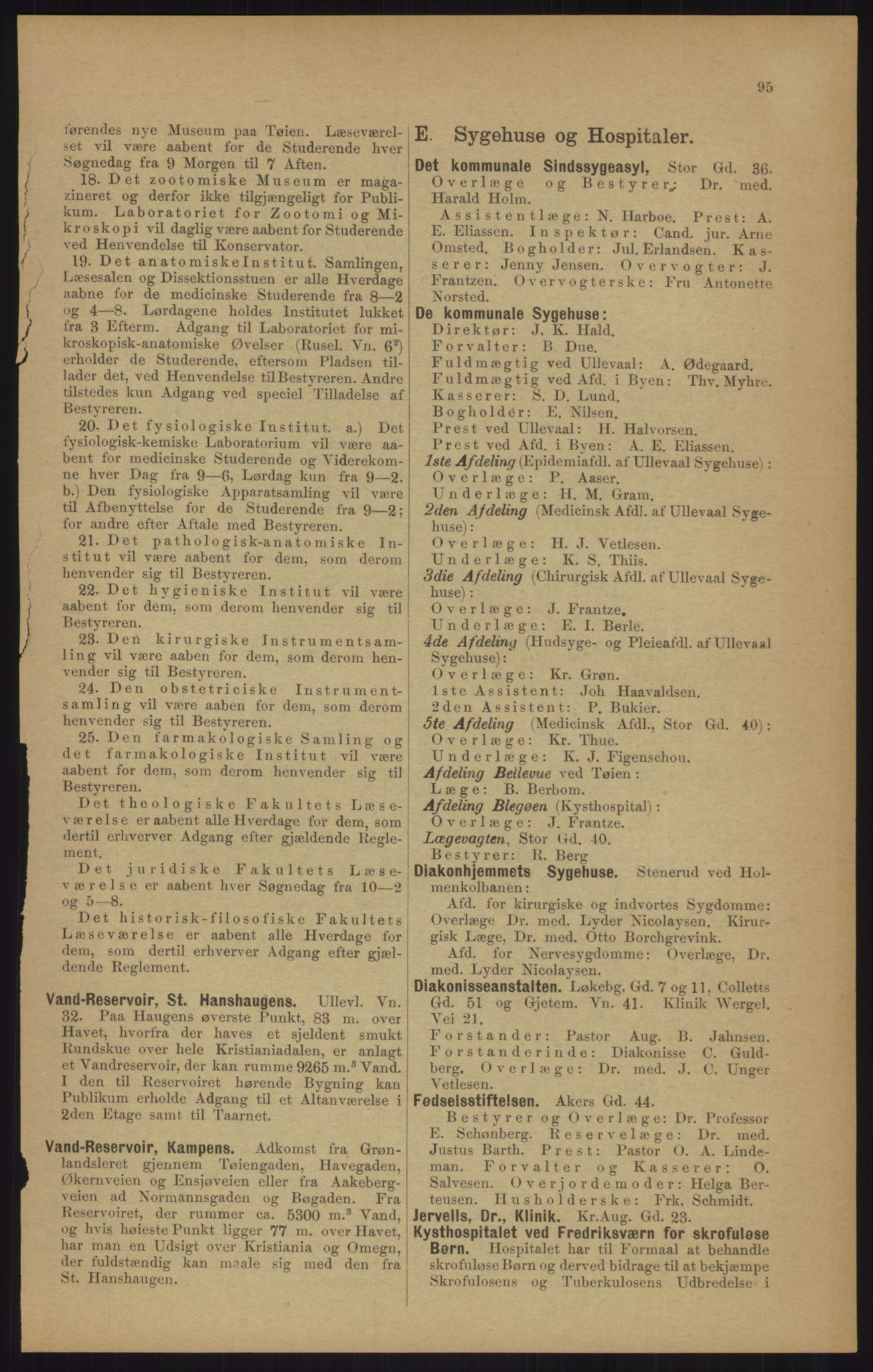 RA, Kristiania adressebok (publikasjon)*, 1905, s. 95