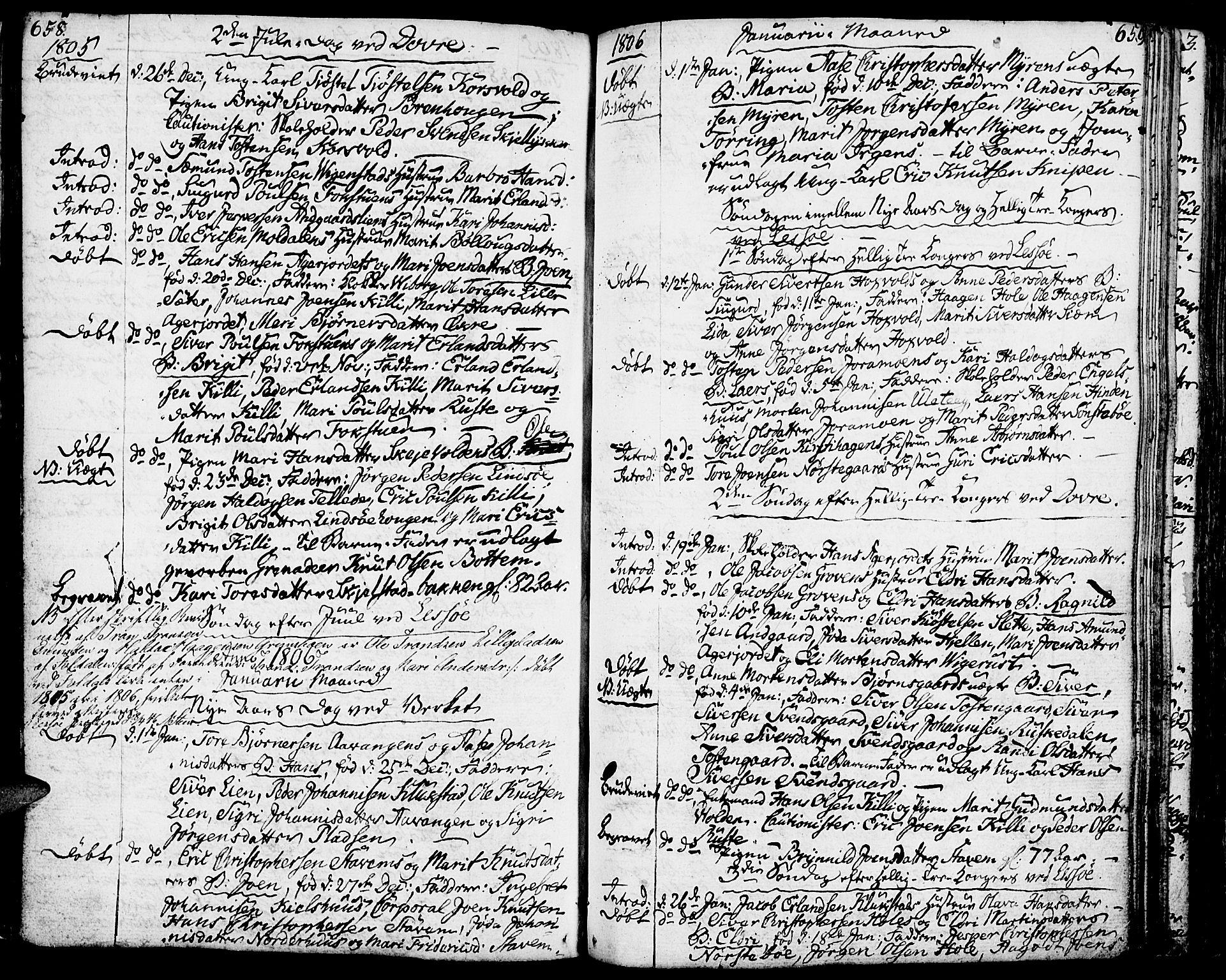 SAH, Lesja prestekontor, Ministerialbok nr. 3, 1777-1819, s. 658-659