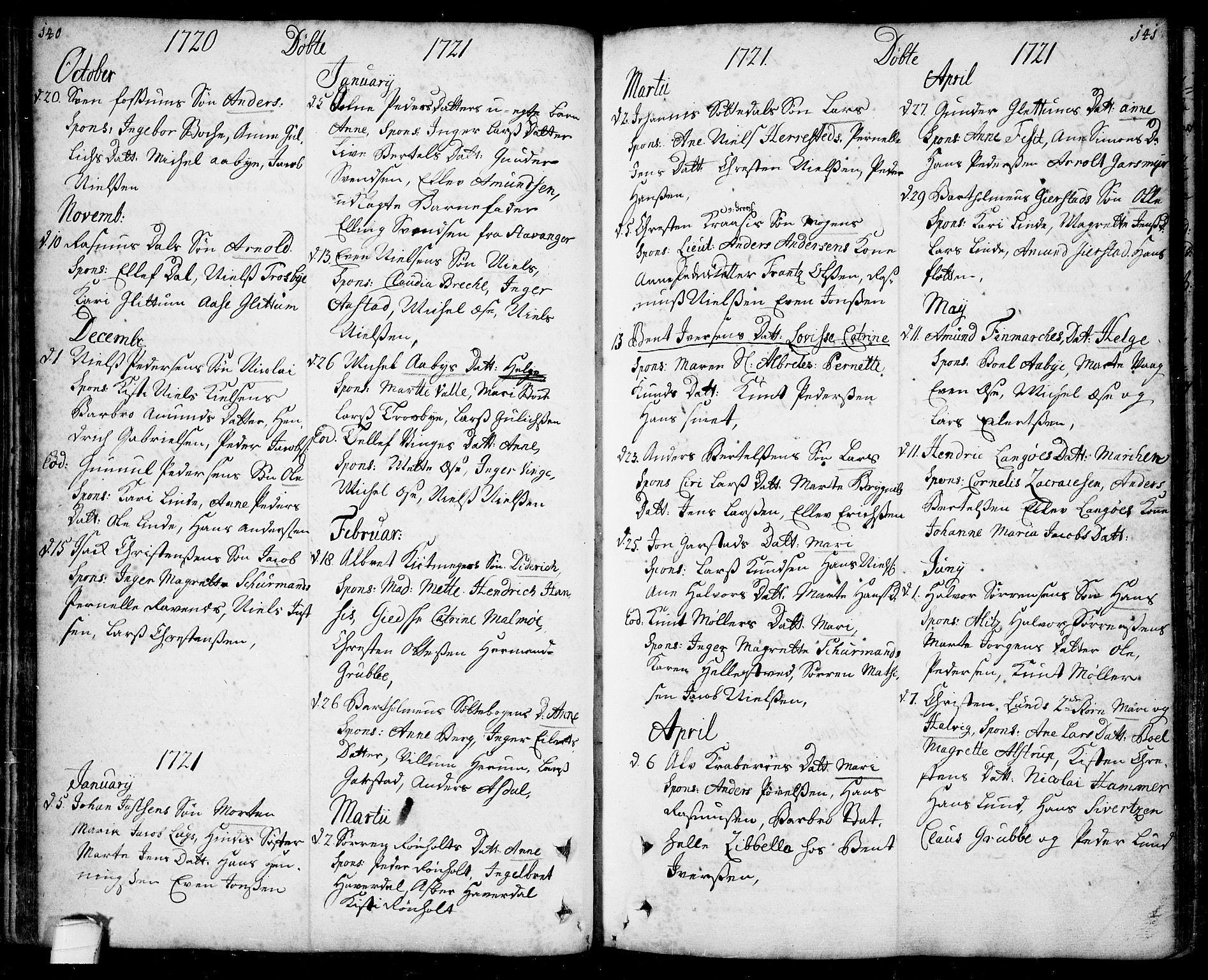 SAKO, Bamble kirkebøker, F/Fa/L0001: Ministerialbok nr. I 1, 1702-1774, s. 140-141
