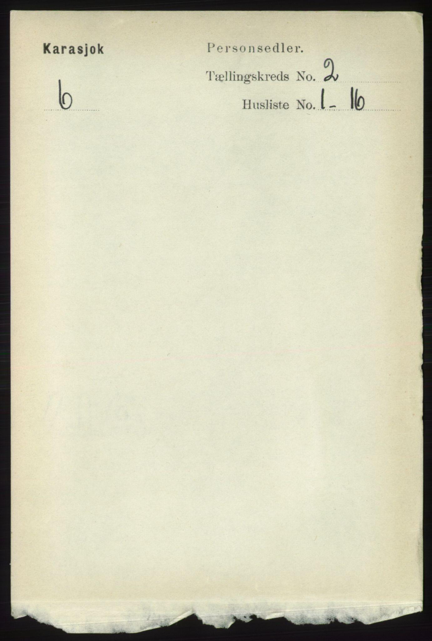 RA, Folketelling 1891 for 2021 Karasjok herred, 1891, s. 434