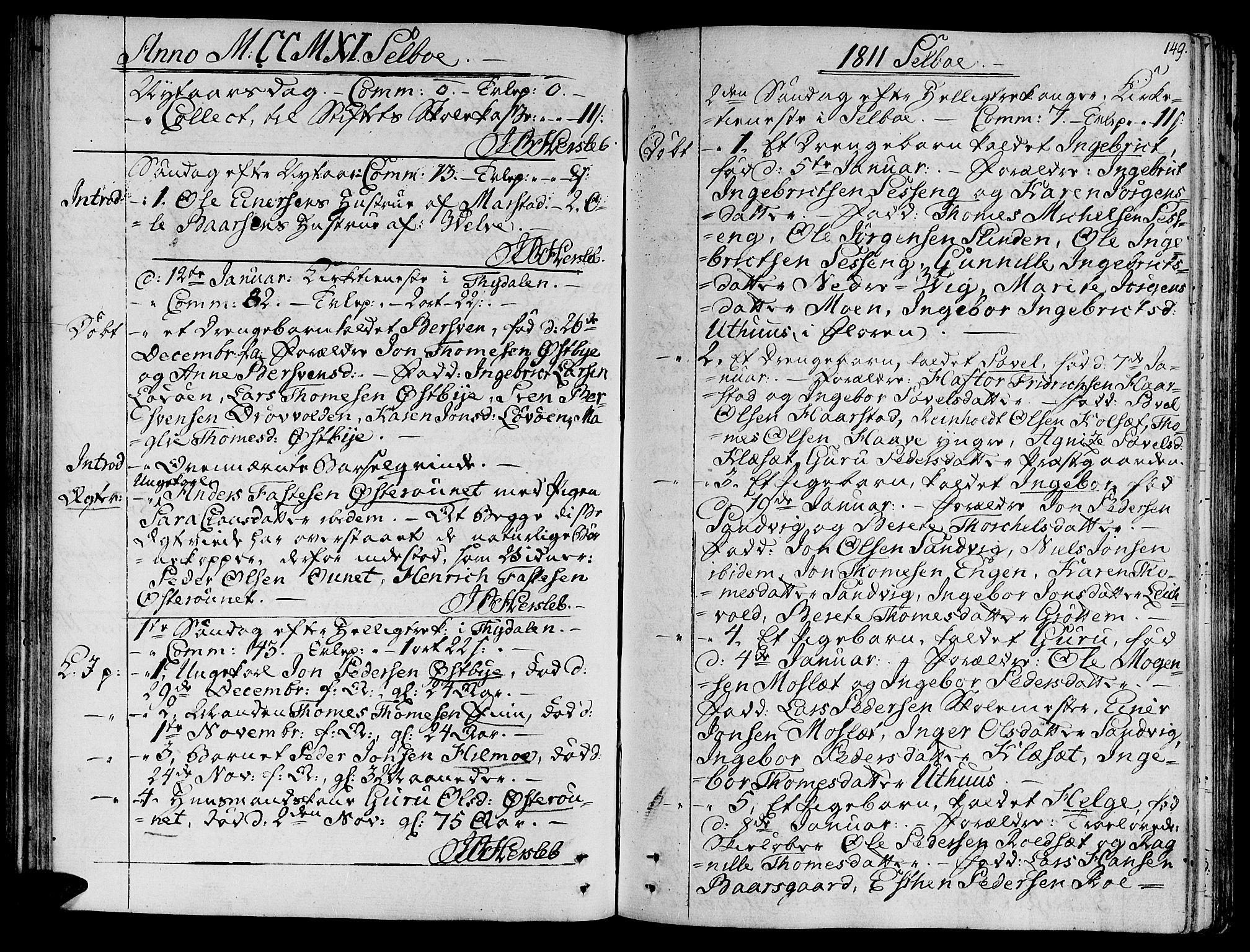 SAT, Ministerialprotokoller, klokkerbøker og fødselsregistre - Sør-Trøndelag, 695/L1140: Ministerialbok nr. 695A03, 1801-1815, s. 149