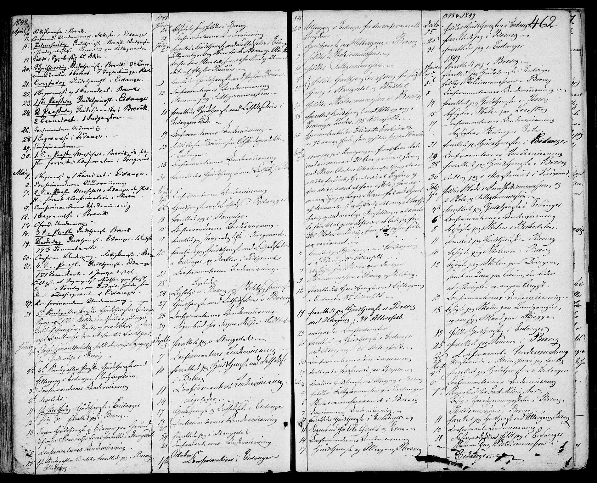SAKO, Eidanger kirkebøker, F/Fa/L0008: Ministerialbok nr. 8, 1831-1858, s. 462