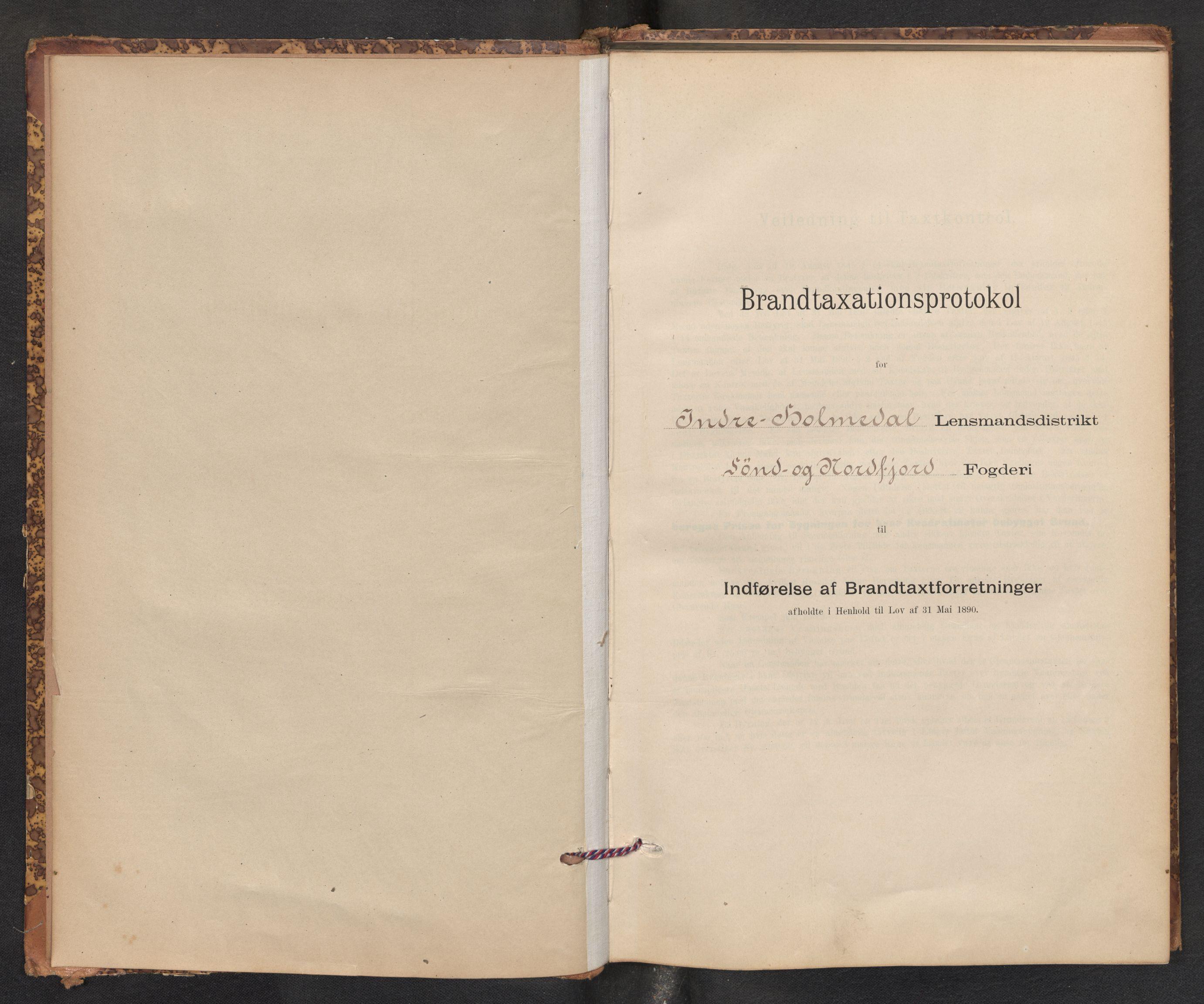 SAB, Lensmannen i Gaular, 0012/L0005: Branntakstprotokoll, skjematakst, 1895-1917