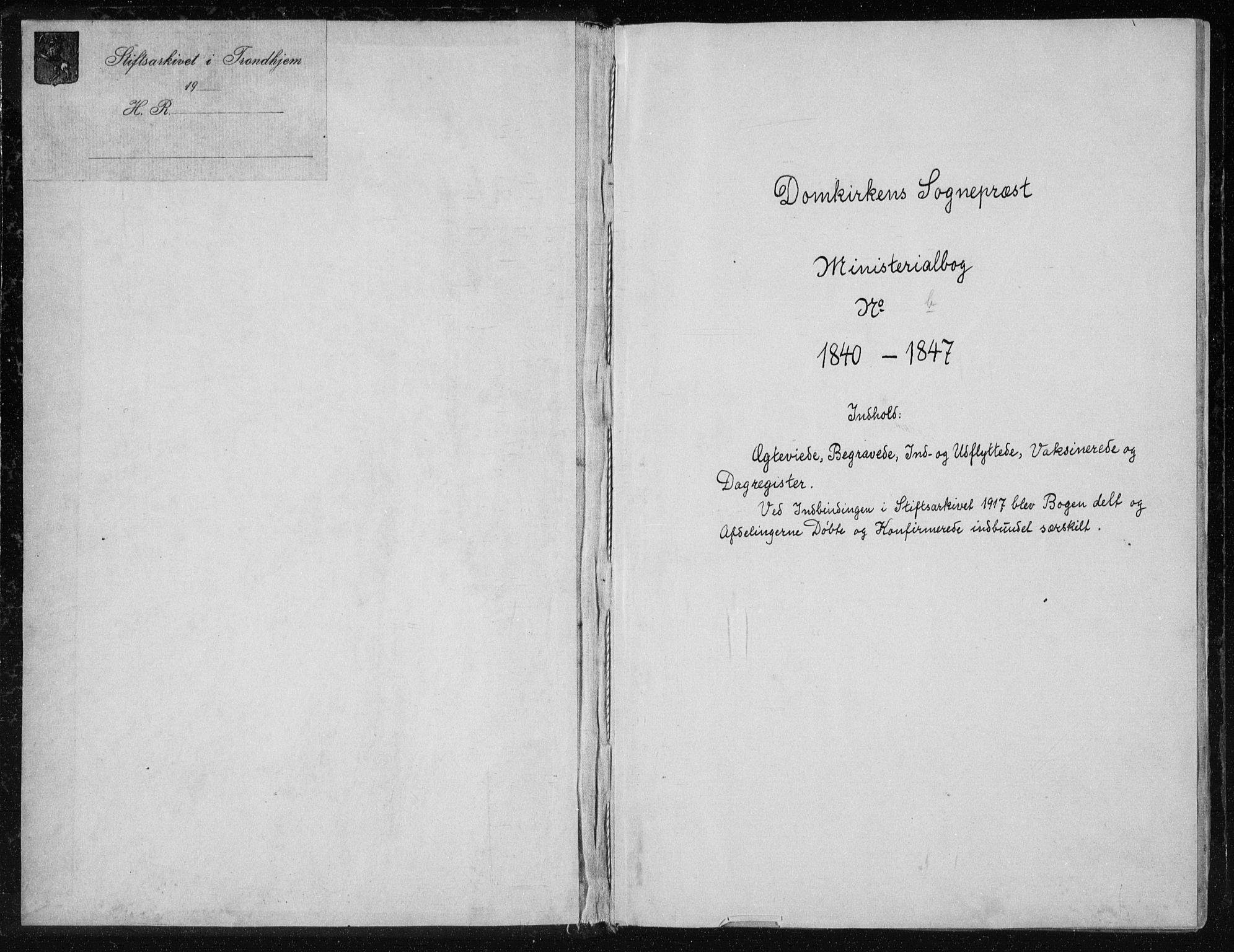 SAT, Ministerialprotokoller, klokkerbøker og fødselsregistre - Sør-Trøndelag, 601/L0049: Ministerialbok nr. 601A17, 1839-1847