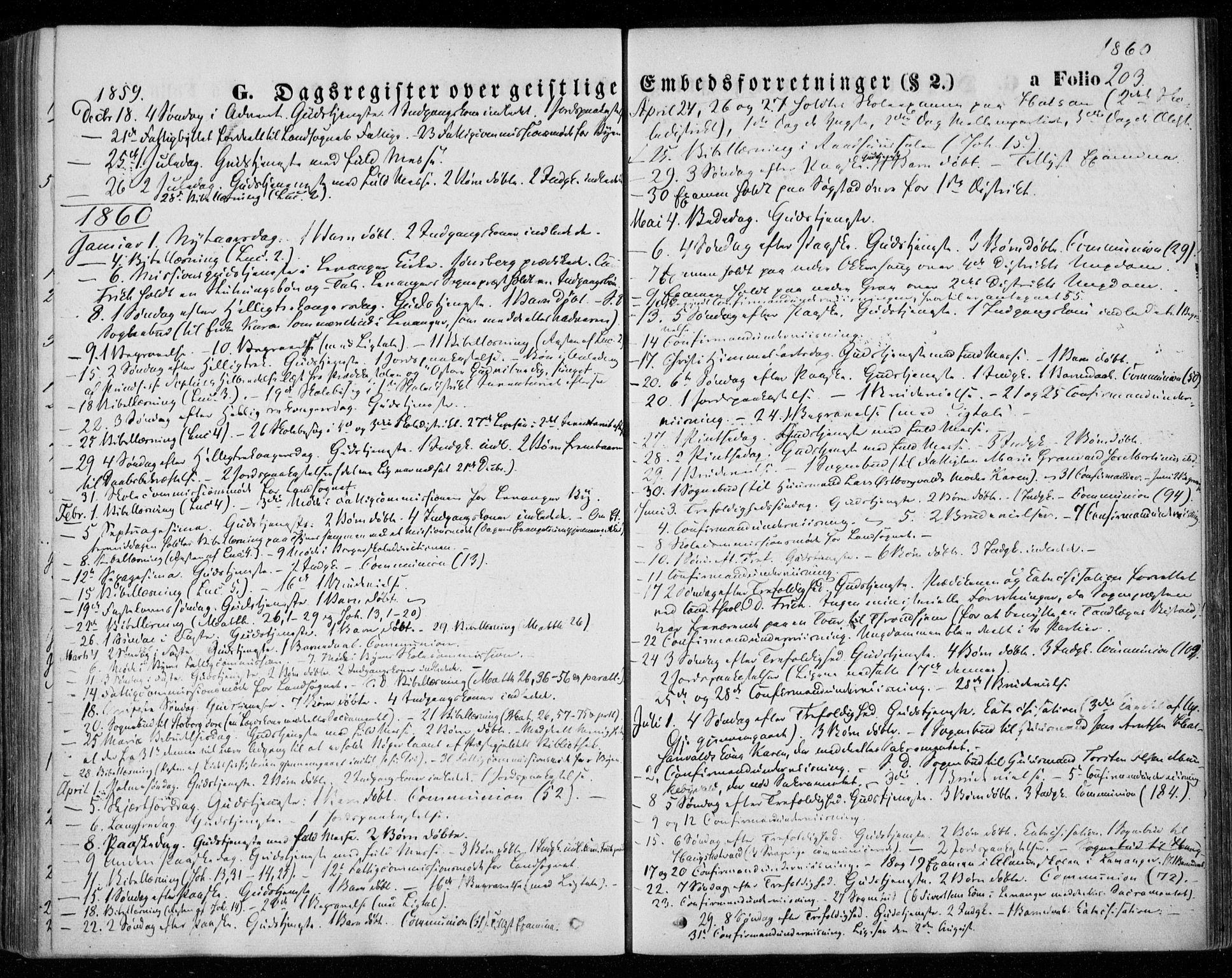 SAT, Ministerialprotokoller, klokkerbøker og fødselsregistre - Nord-Trøndelag, 720/L0184: Ministerialbok nr. 720A02 /1, 1855-1863, s. 203