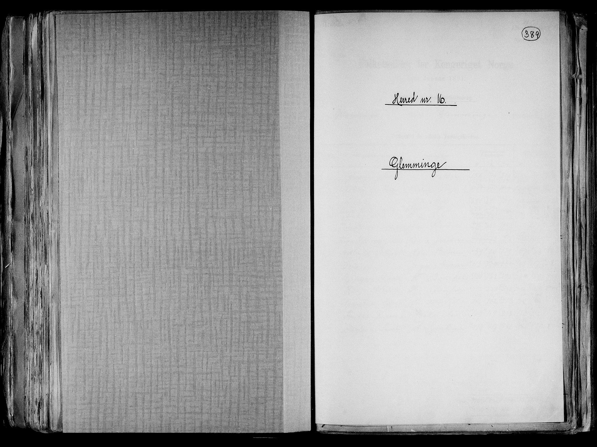 RA, Folketelling 1891 for 0132 Glemmen herred, 1891, s. 1