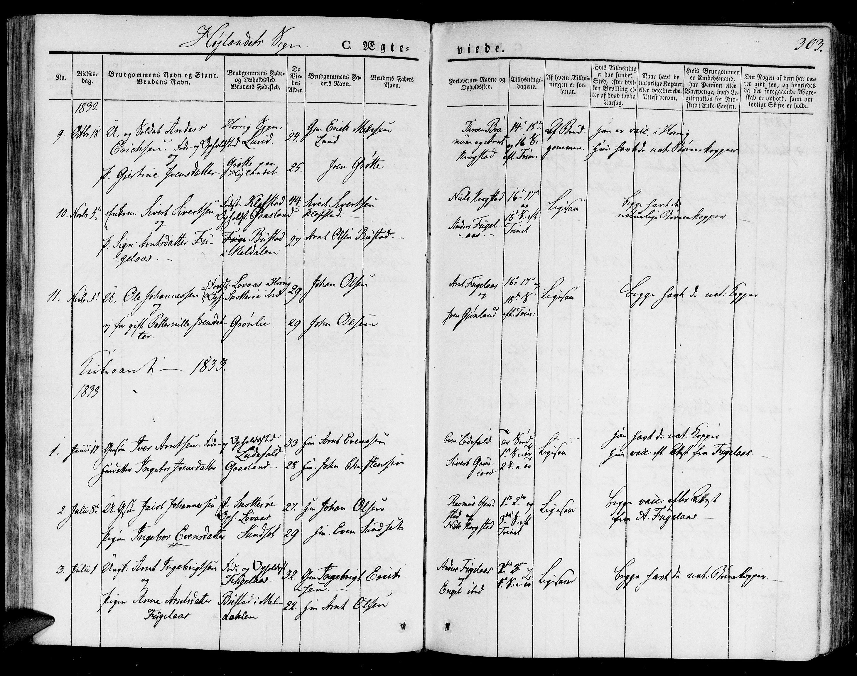 SAT, Ministerialprotokoller, klokkerbøker og fødselsregistre - Sør-Trøndelag, 691/L1073: Ministerialbok nr. 691A05 /4, 1826-1841, s. 303