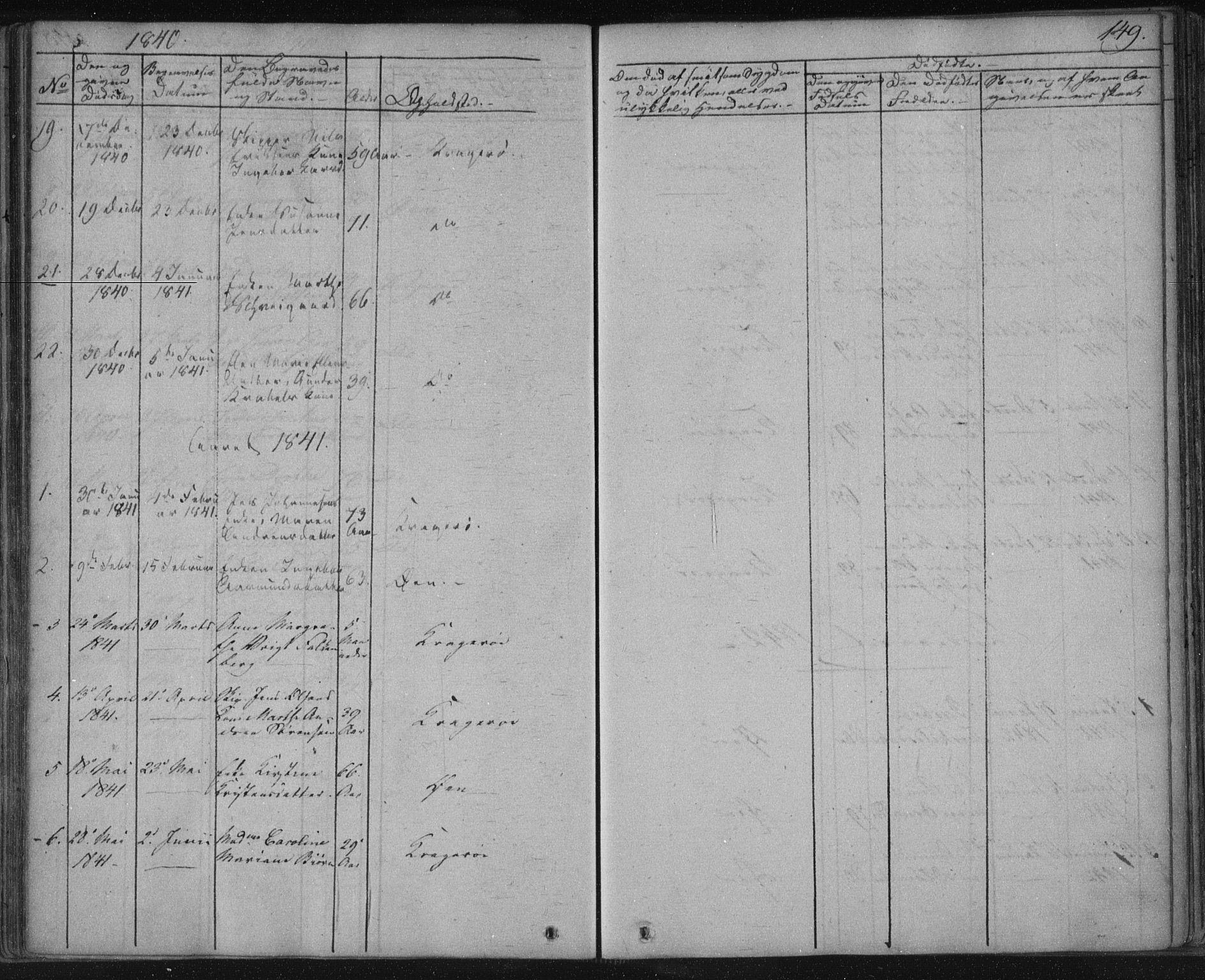 SAKO, Kragerø kirkebøker, F/Fa/L0005: Ministerialbok nr. 5, 1832-1847, s. 149