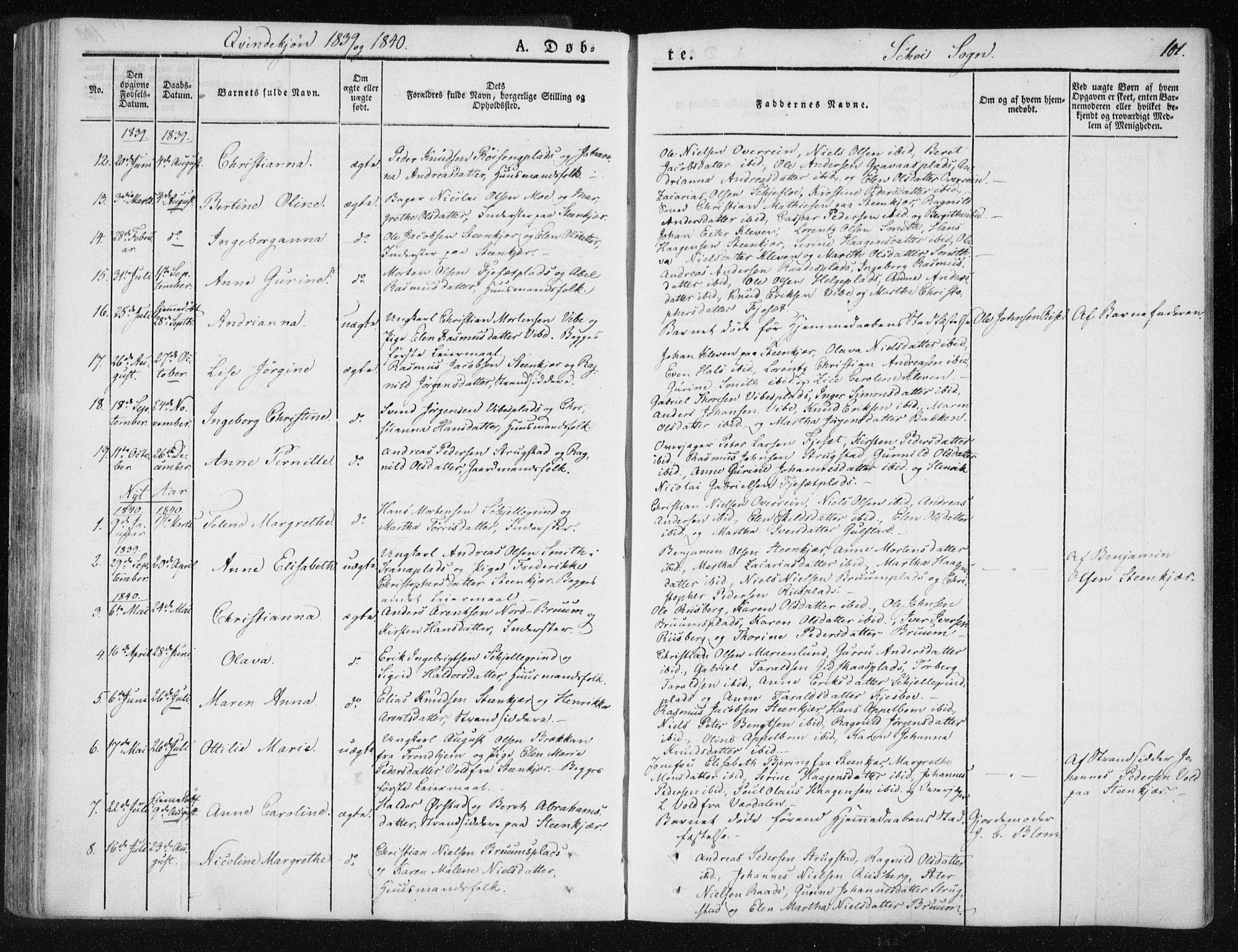 SAT, Ministerialprotokoller, klokkerbøker og fødselsregistre - Nord-Trøndelag, 735/L0339: Ministerialbok nr. 735A06 /2, 1836-1848, s. 101