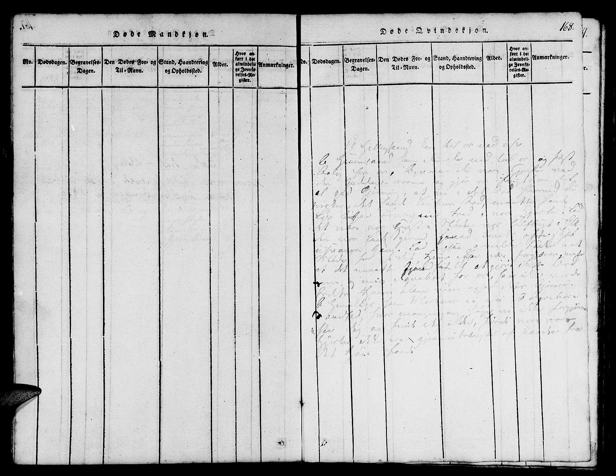 SAT, Ministerialprotokoller, klokkerbøker og fødselsregistre - Sør-Trøndelag, 665/L0776: Klokkerbok nr. 665C01, 1817-1837, s. 168