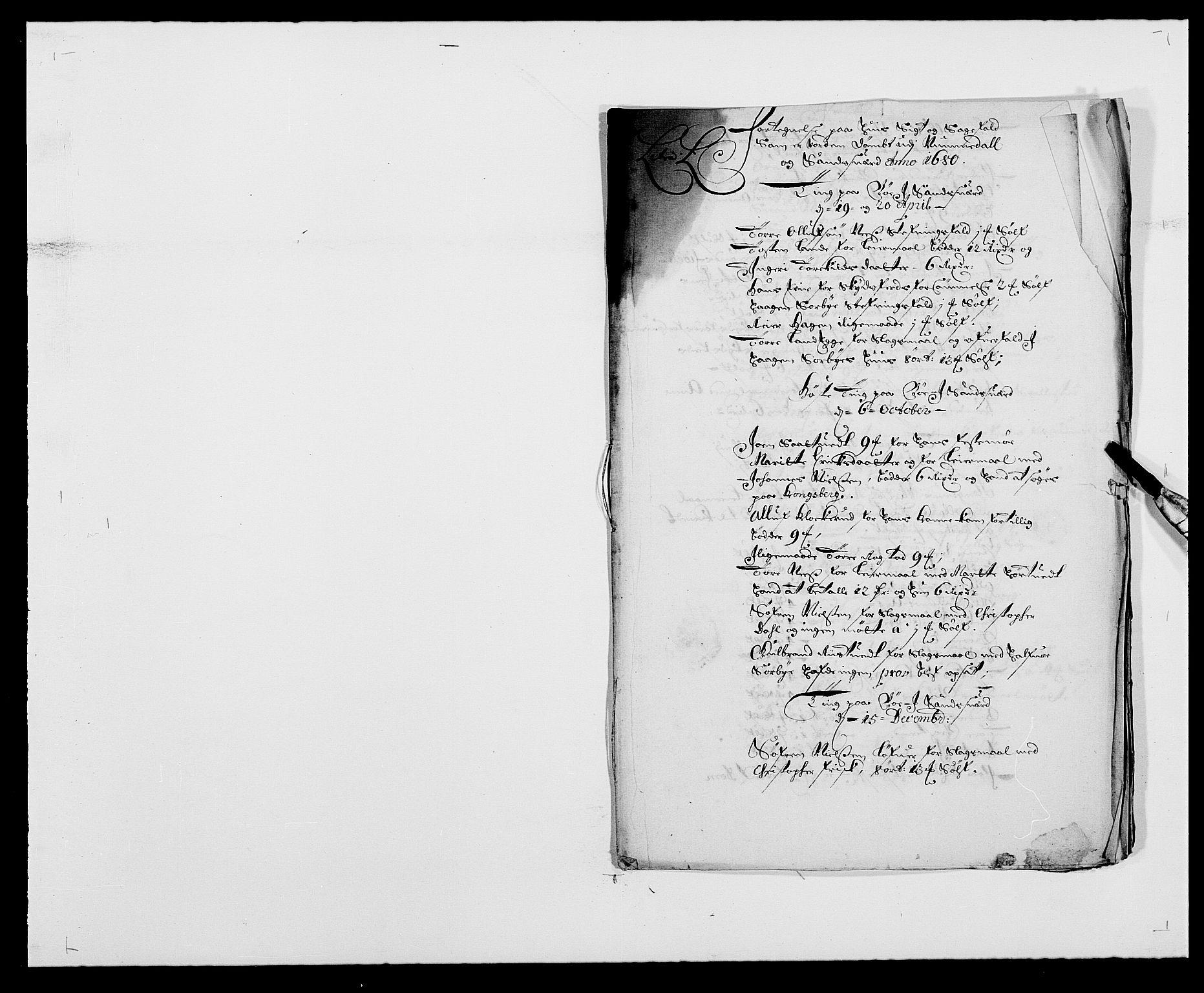 RA, Rentekammeret inntil 1814, Reviderte regnskaper, Fogderegnskap, R24/L1569: Fogderegnskap Numedal og Sandsvær, 1679-1686, s. 167