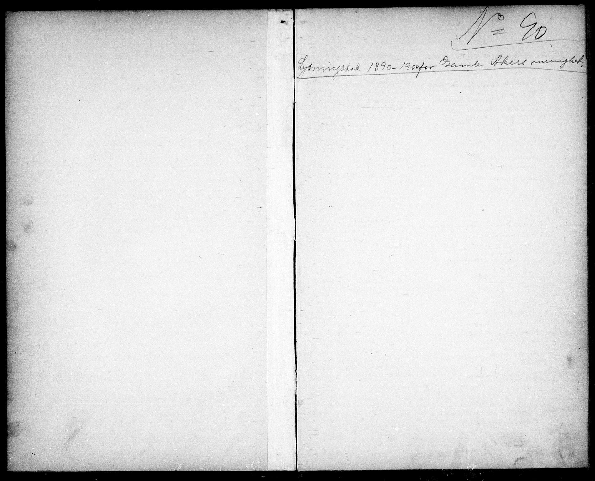 SAO, Gamle Aker prestekontor Kirkebøker, H/L0002: Lysningsprotokoll nr. 2, 1890-1900