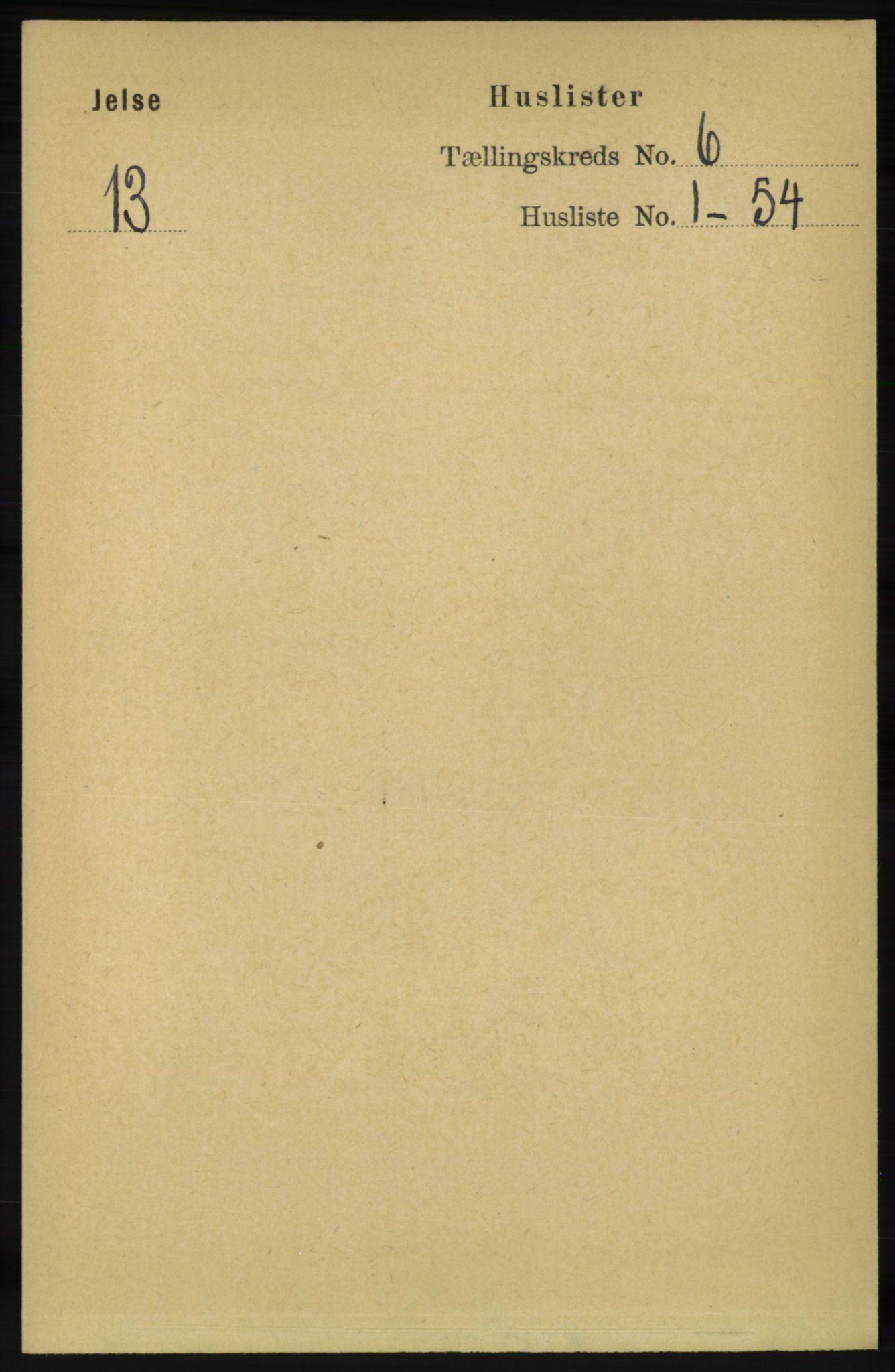 RA, Folketelling 1891 for 1138 Jelsa herred, 1891, s. 1152