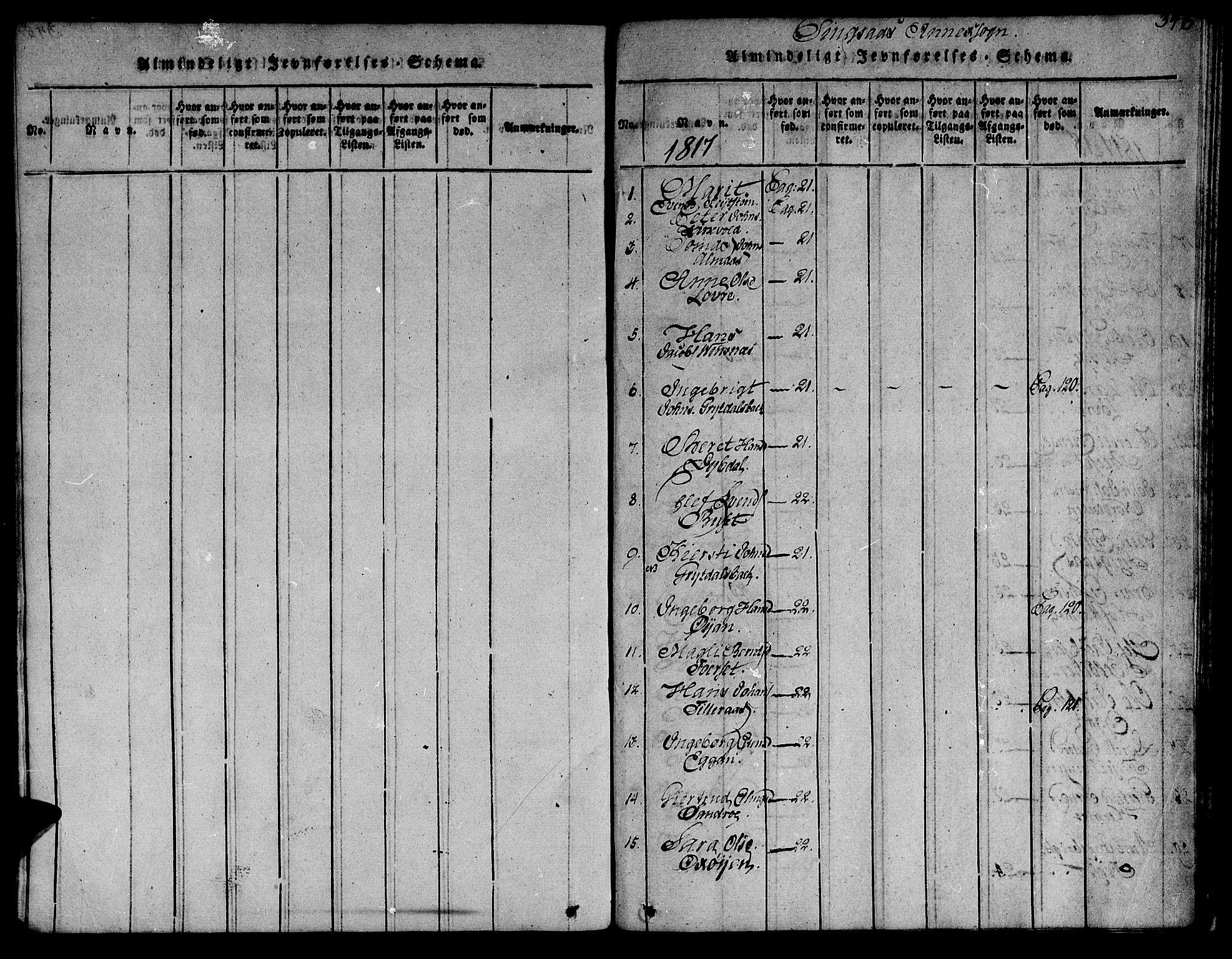 SAT, Ministerialprotokoller, klokkerbøker og fødselsregistre - Sør-Trøndelag, 685/L0955: Ministerialbok nr. 685A03 /2, 1817-1829, s. 346