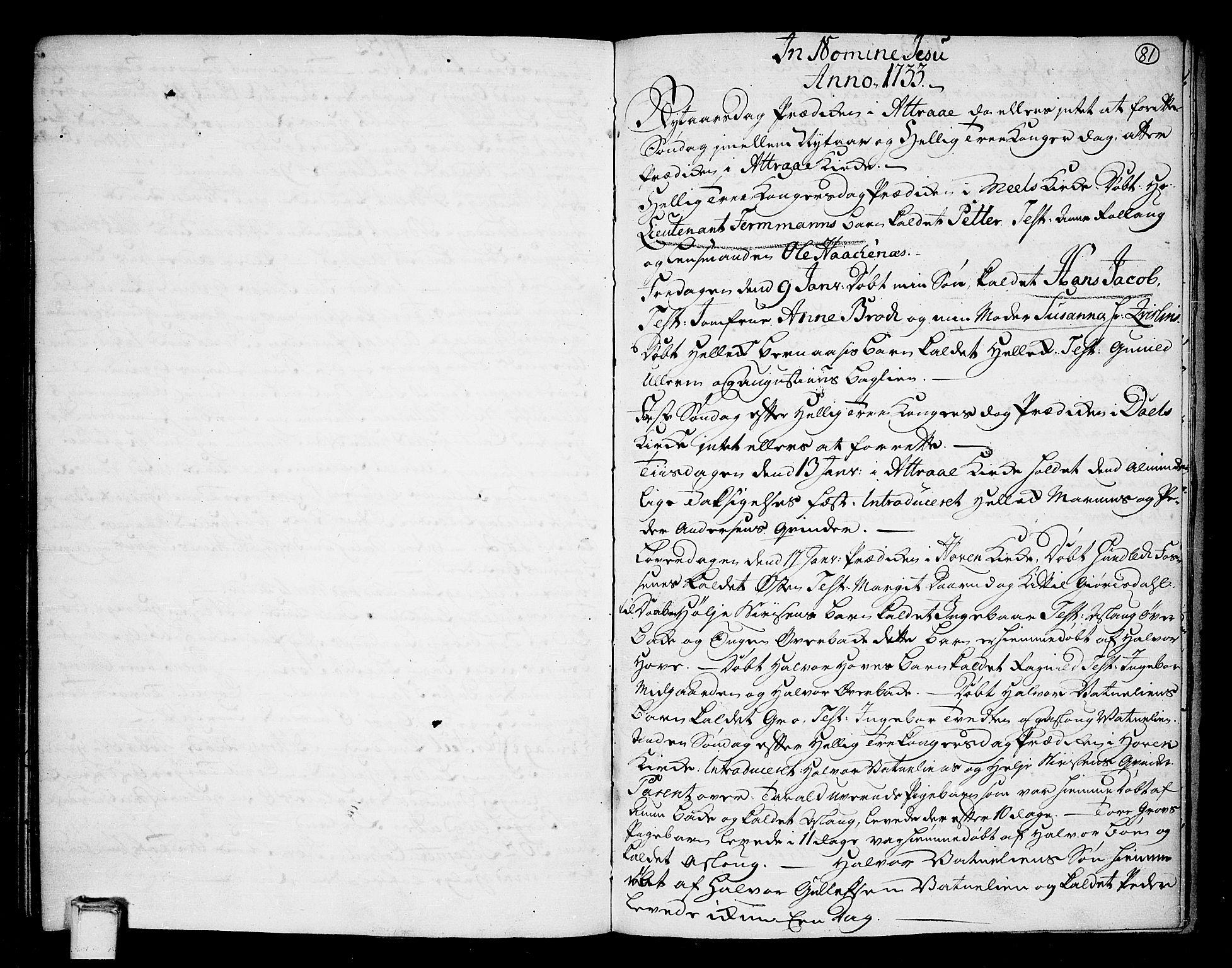 SAKO, Tinn kirkebøker, F/Fa/L0001: Ministerialbok nr. I 1, 1717-1734, s. 81