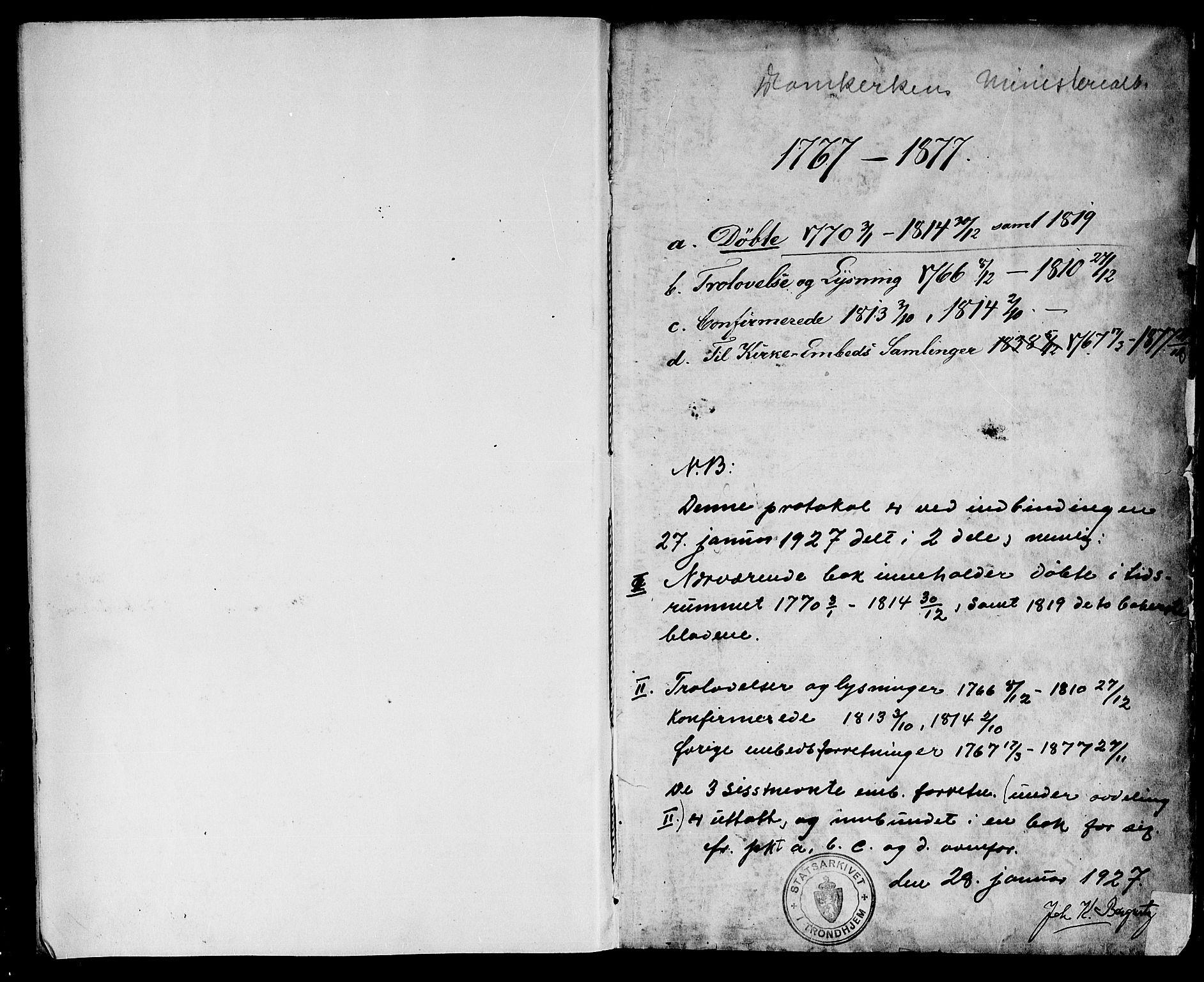 SAT, Ministerialprotokoller, klokkerbøker og fødselsregistre - Sør-Trøndelag, 601/L0039: Ministerialbok nr. 601A07, 1770-1819