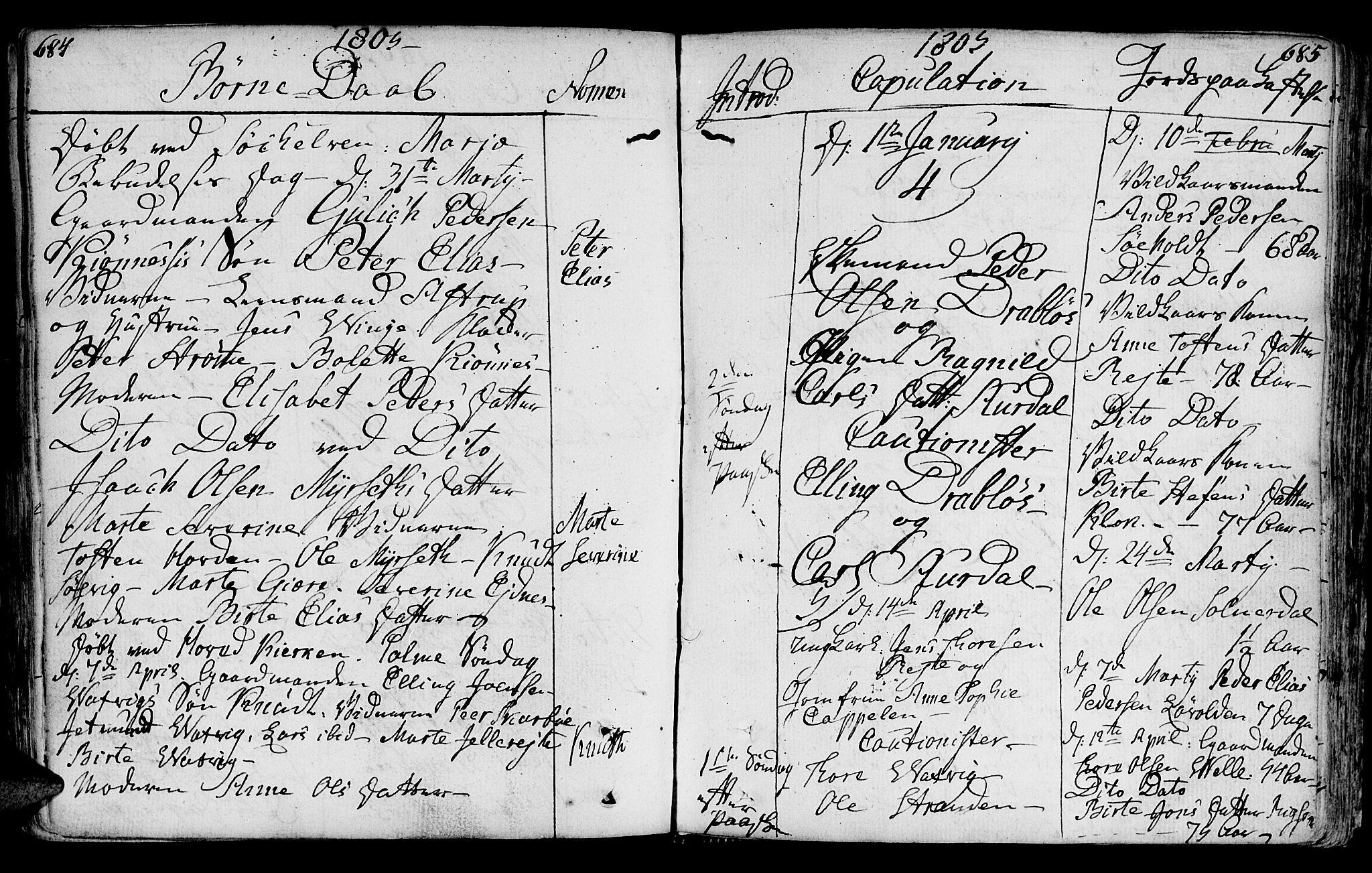 SAT, Ministerialprotokoller, klokkerbøker og fødselsregistre - Møre og Romsdal, 522/L0308: Ministerialbok nr. 522A03, 1773-1809, s. 684-685
