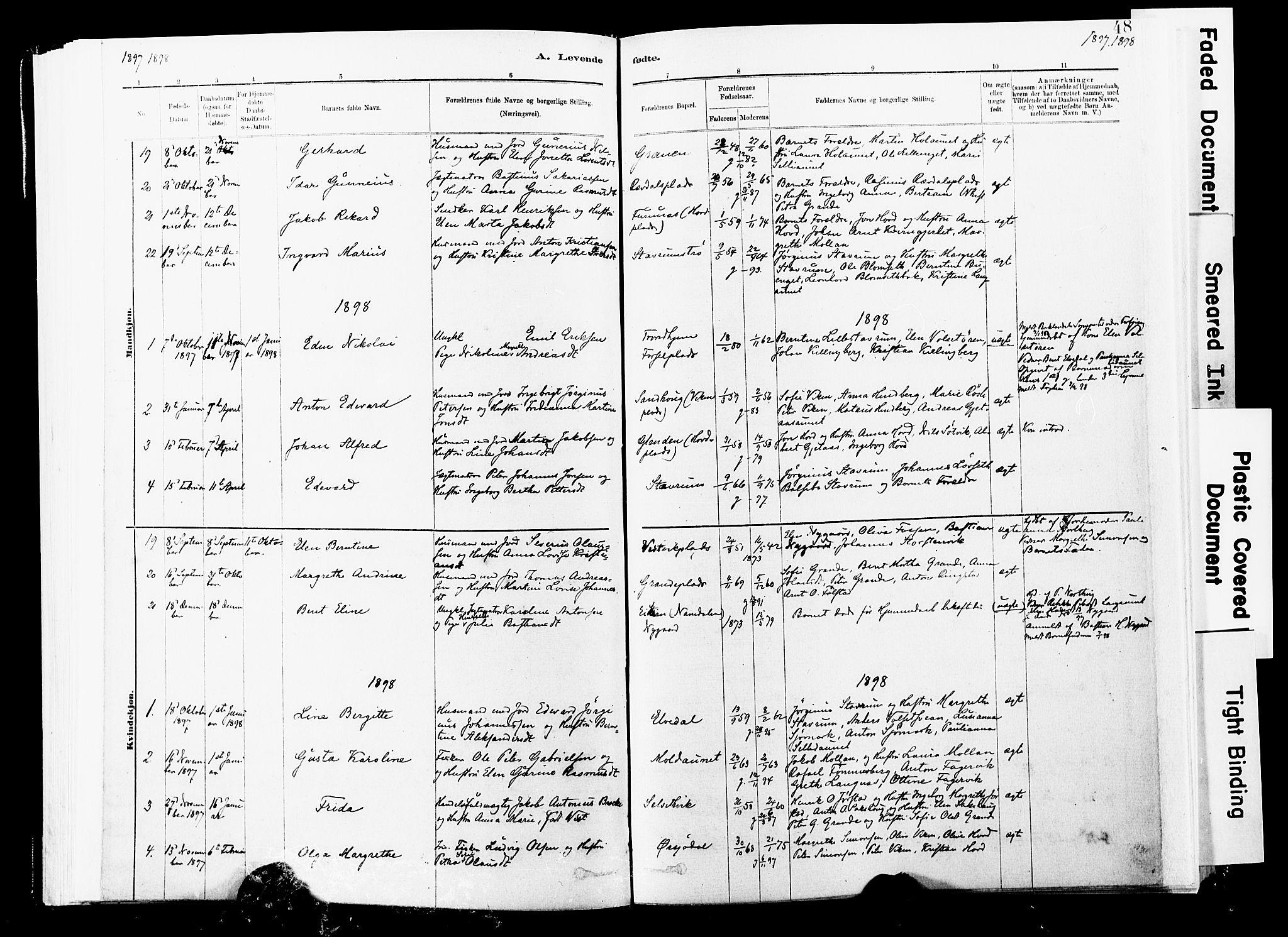 SAT, Ministerialprotokoller, klokkerbøker og fødselsregistre - Nord-Trøndelag, 744/L0420: Ministerialbok nr. 744A04, 1882-1904, s. 48