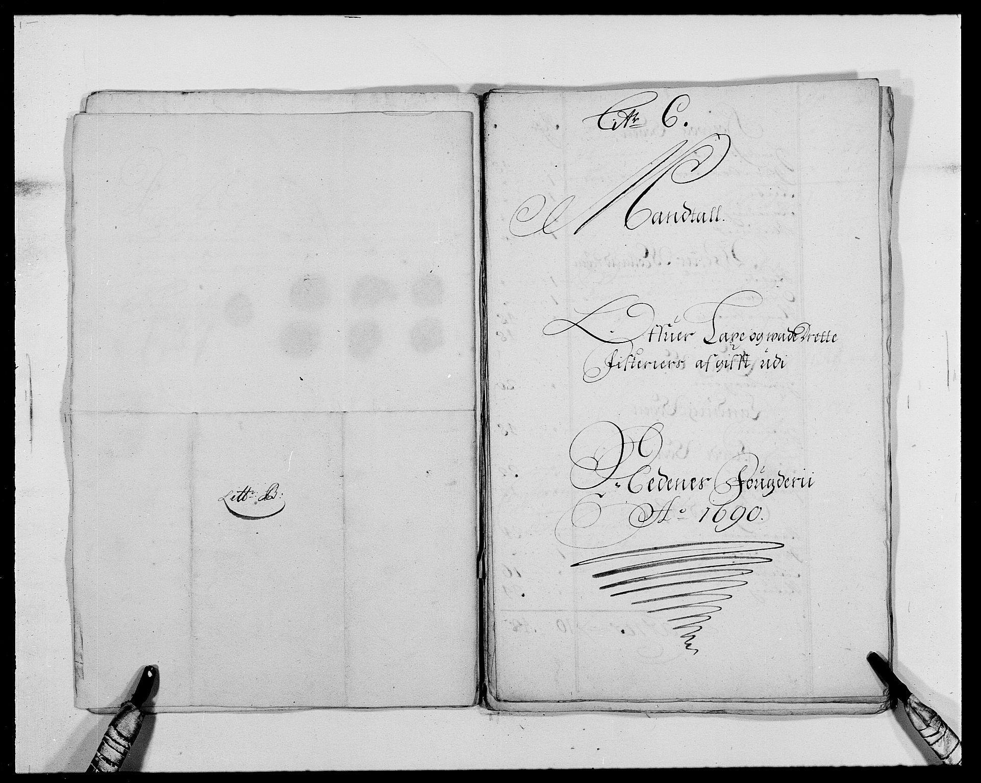 RA, Rentekammeret inntil 1814, Reviderte regnskaper, Fogderegnskap, R39/L2310: Fogderegnskap Nedenes, 1690-1692, s. 114