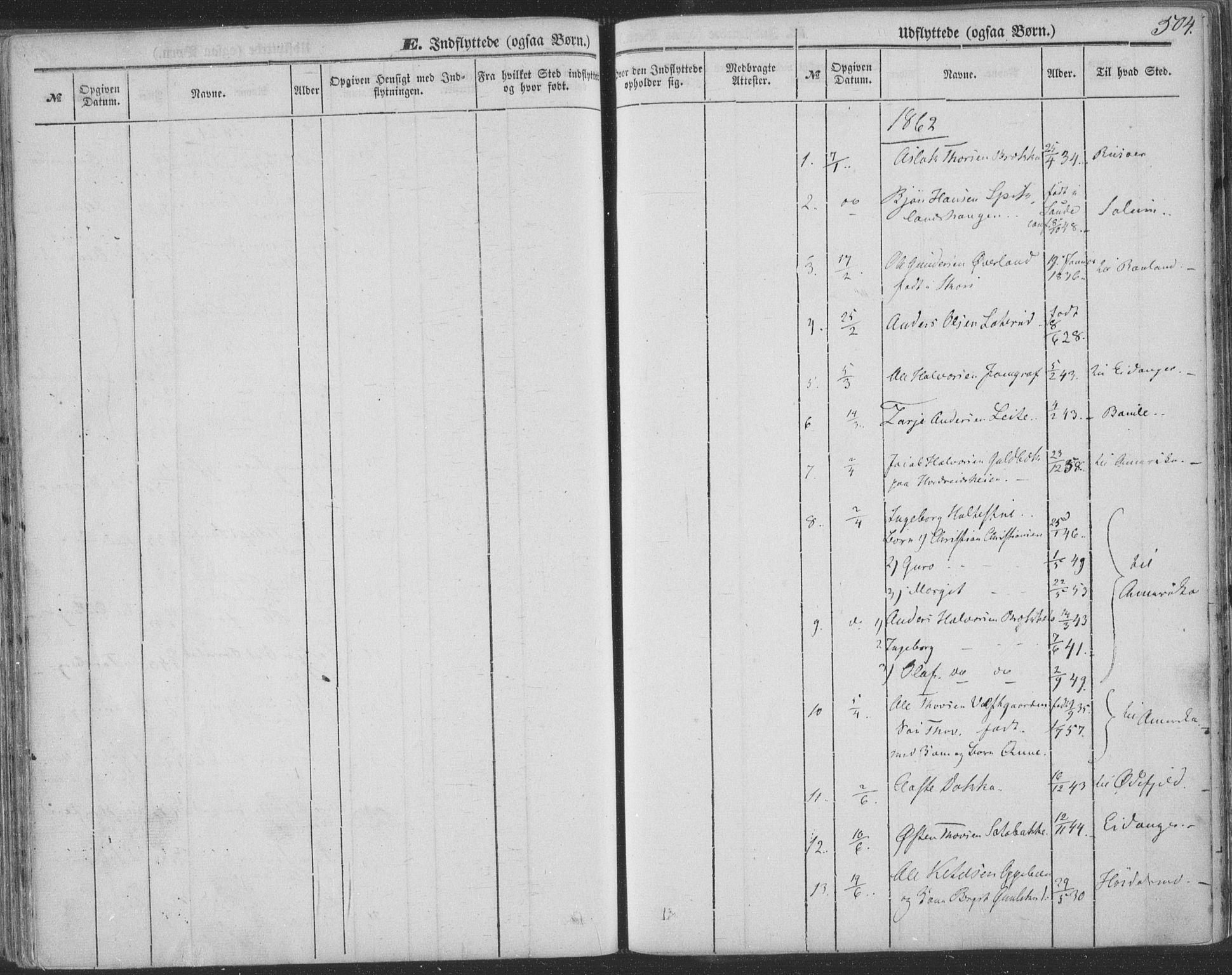 SAKO, Seljord kirkebøker, F/Fa/L012b: Ministerialbok nr. I 12B, 1850-1865, s. 504