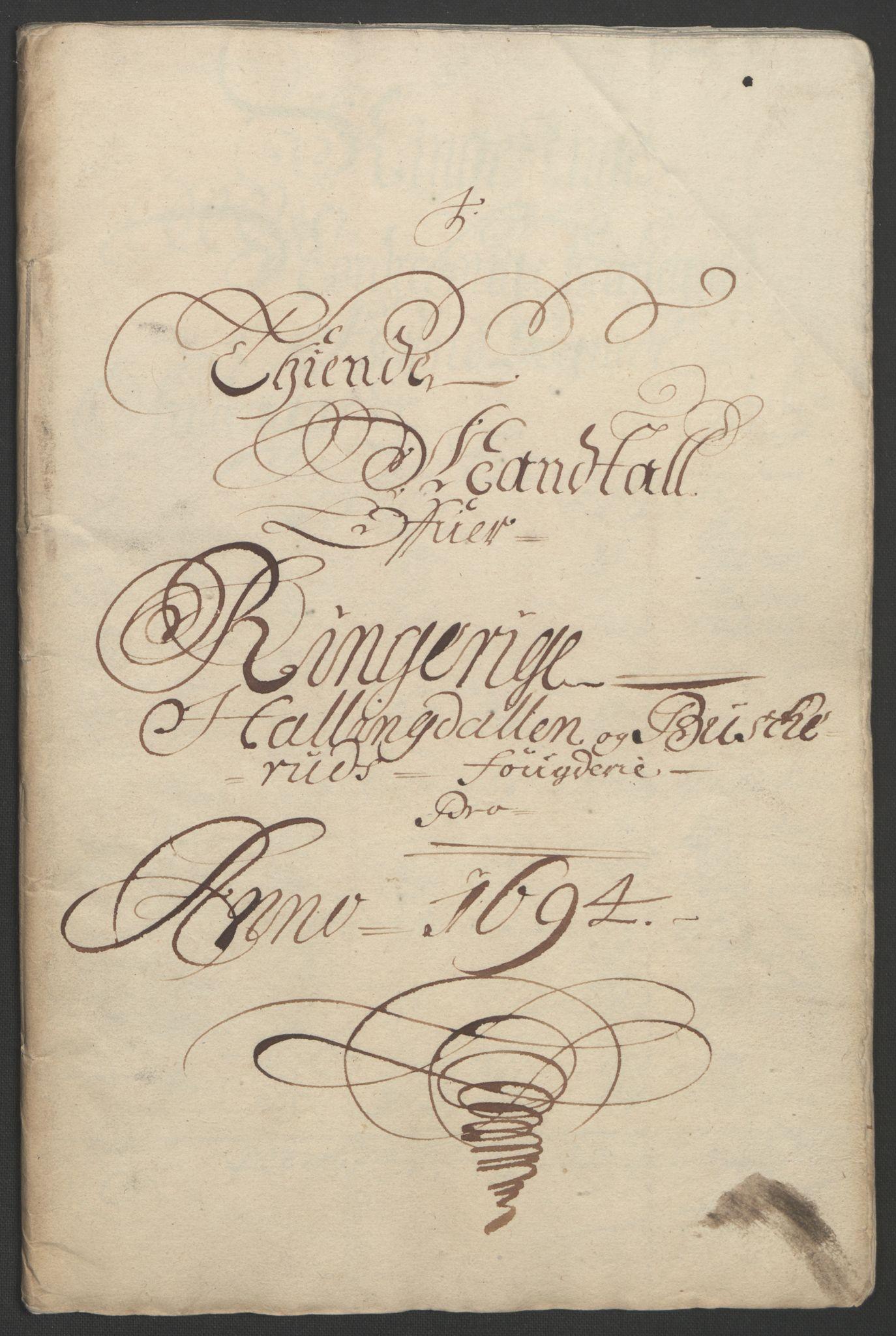 RA, Rentekammeret inntil 1814, Reviderte regnskaper, Fogderegnskap, R22/L1451: Fogderegnskap Ringerike, Hallingdal og Buskerud, 1694, s. 260