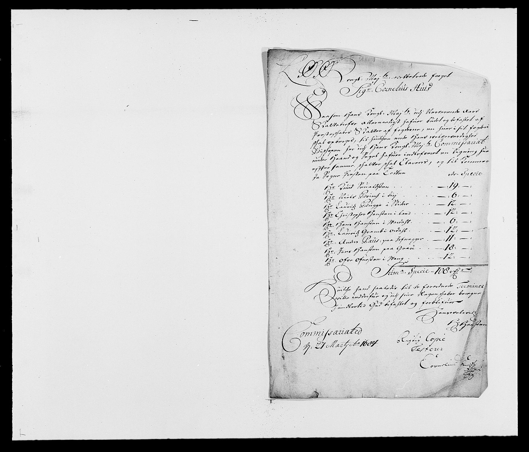RA, Rentekammeret inntil 1814, Reviderte regnskaper, Fogderegnskap, R18/L1286: Fogderegnskap Hadeland, Toten og Valdres, 1687, s. 215